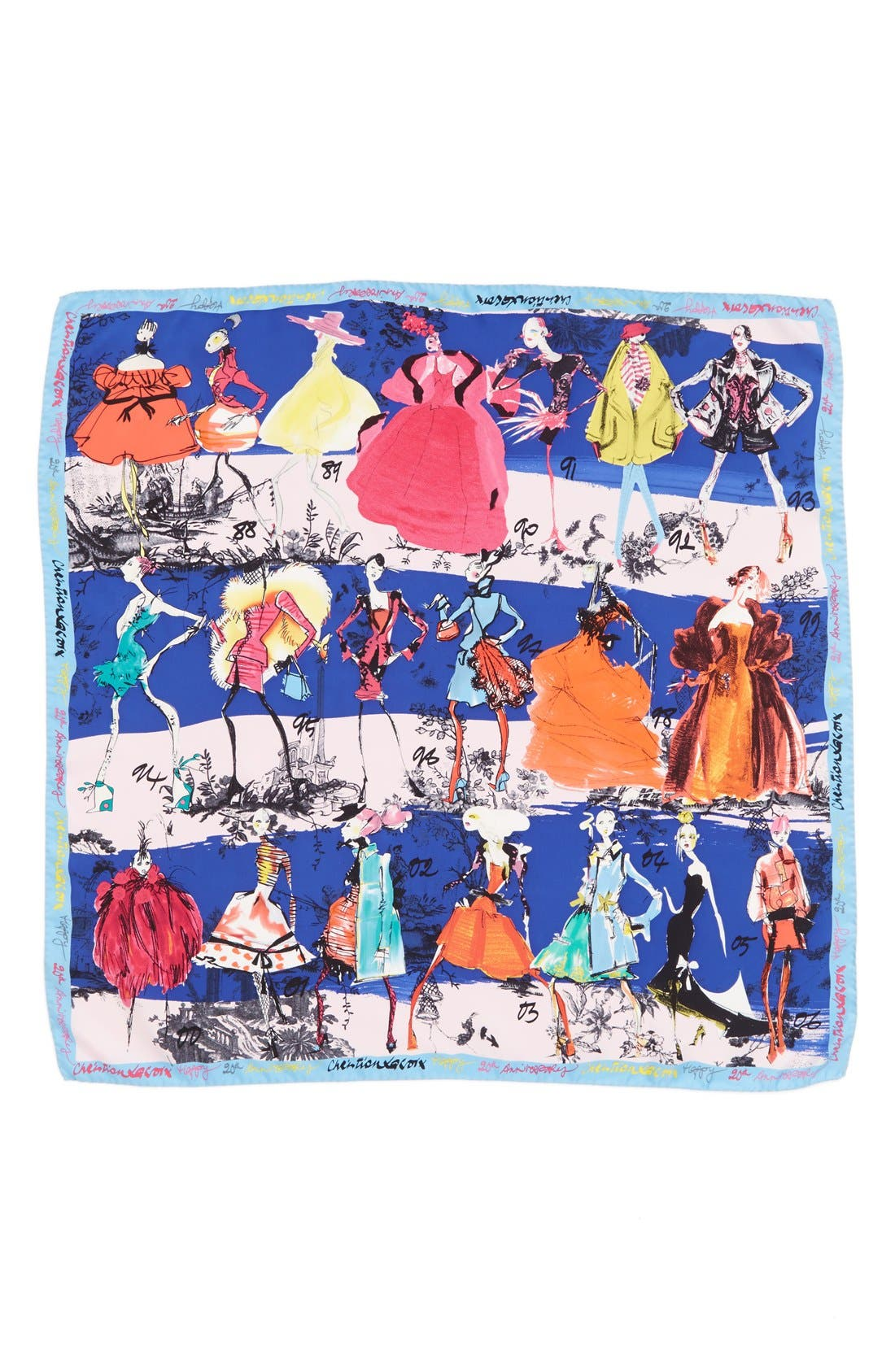 '20 Ans' Square Silk Scarf,                             Alternate thumbnail 14, color,