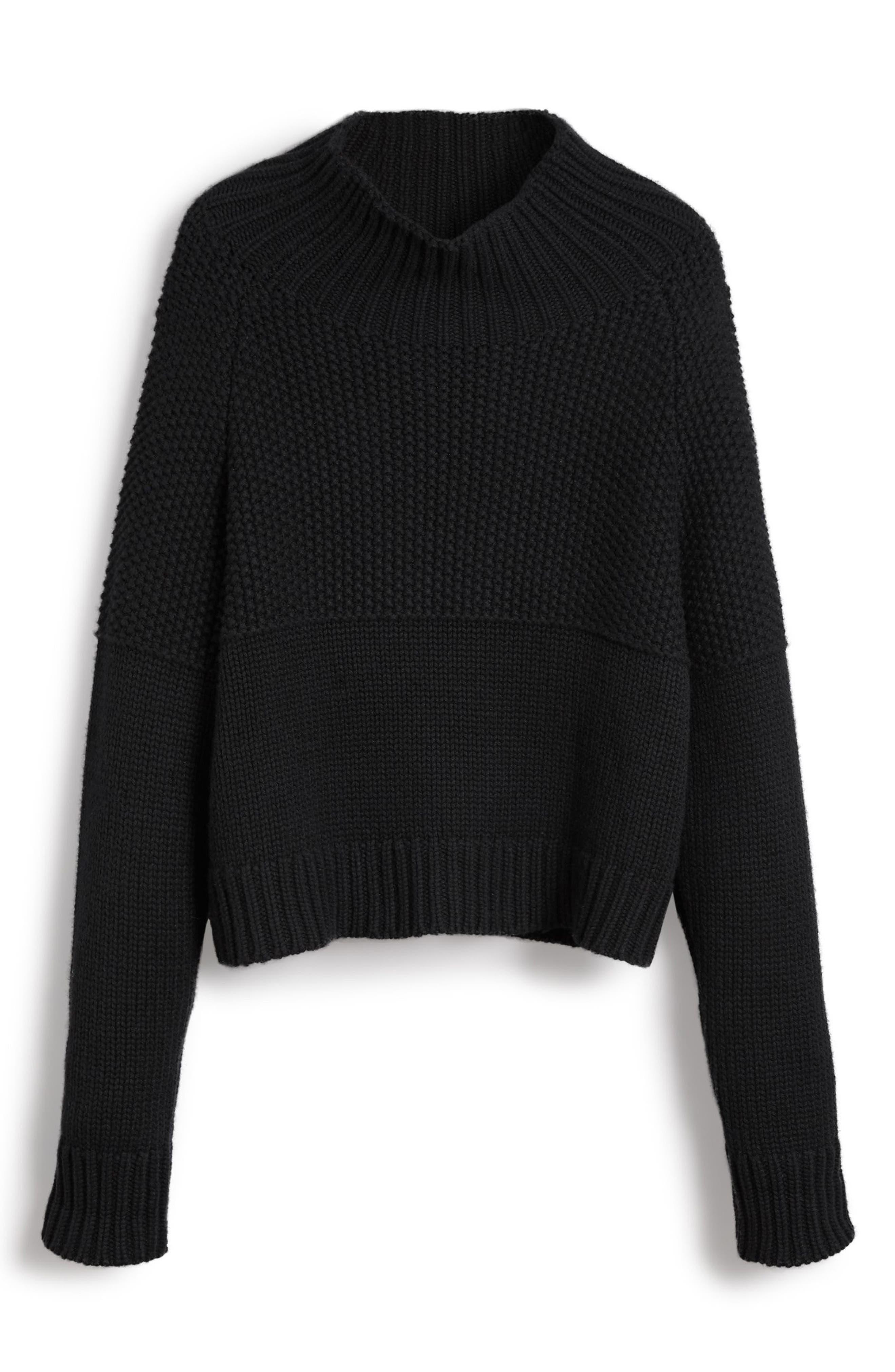 Dawson Cashmere Sweater,                             Alternate thumbnail 4, color,                             001