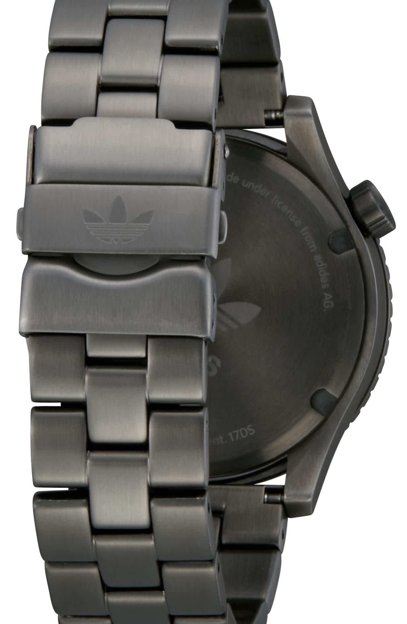 Cypher Bracelet Watch, 42mm,                             Alternate thumbnail 2, color,                             GUNMETAL/ GREEN