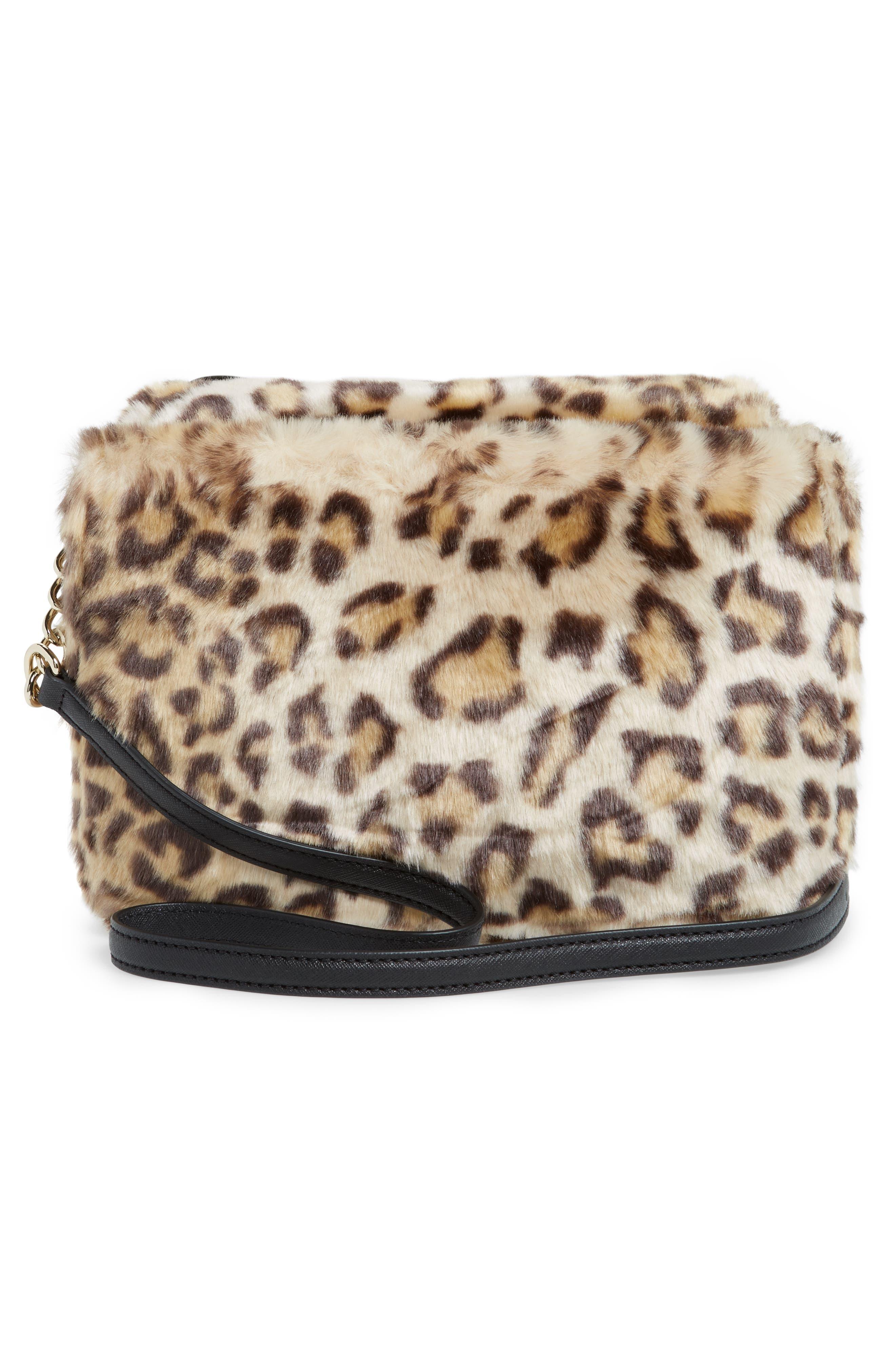 run wild faux fur shoulder bag/muff,                             Alternate thumbnail 3, color,                             200