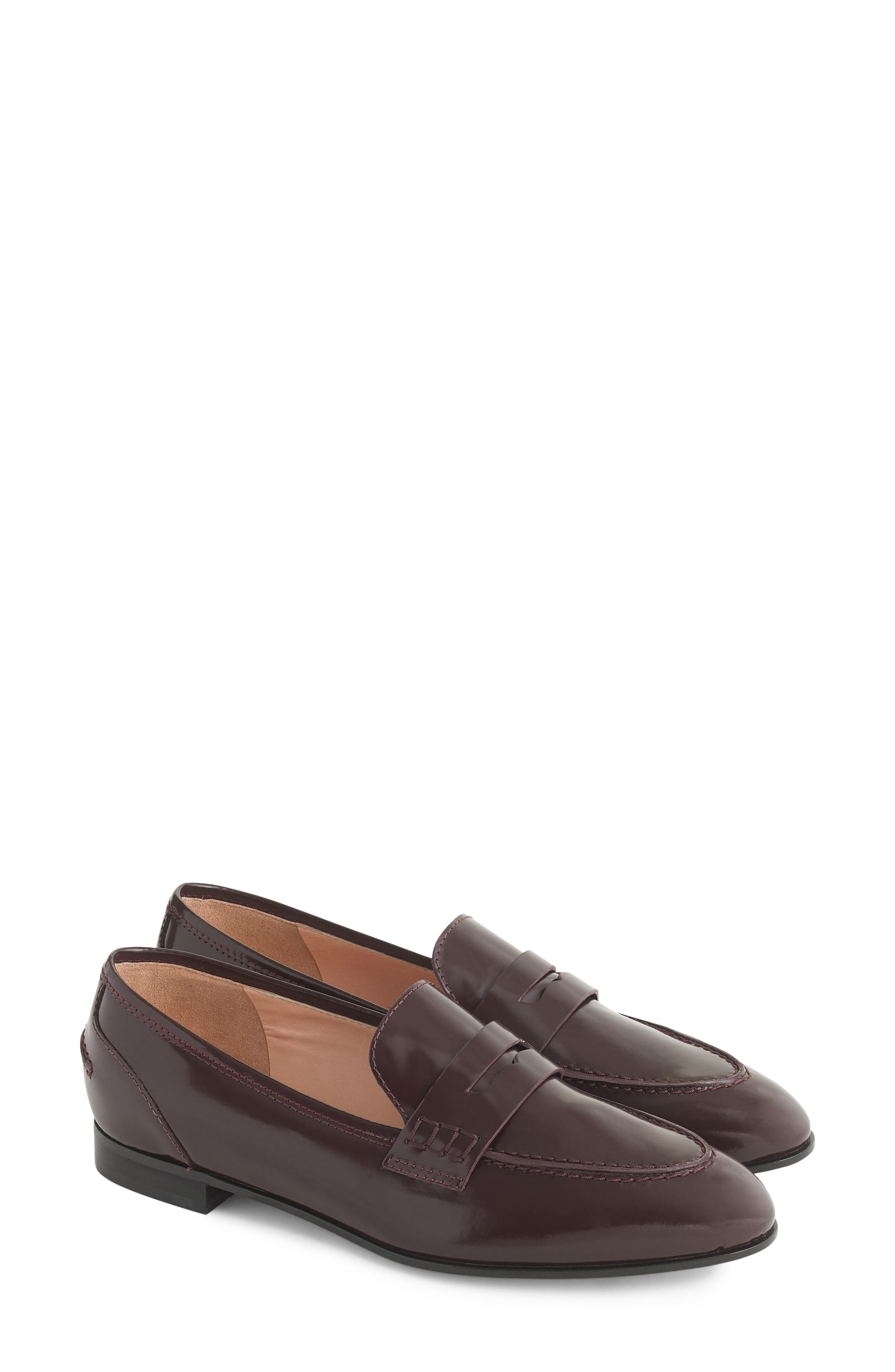 Academy Penny Loafer in Burnished Beet Leather
