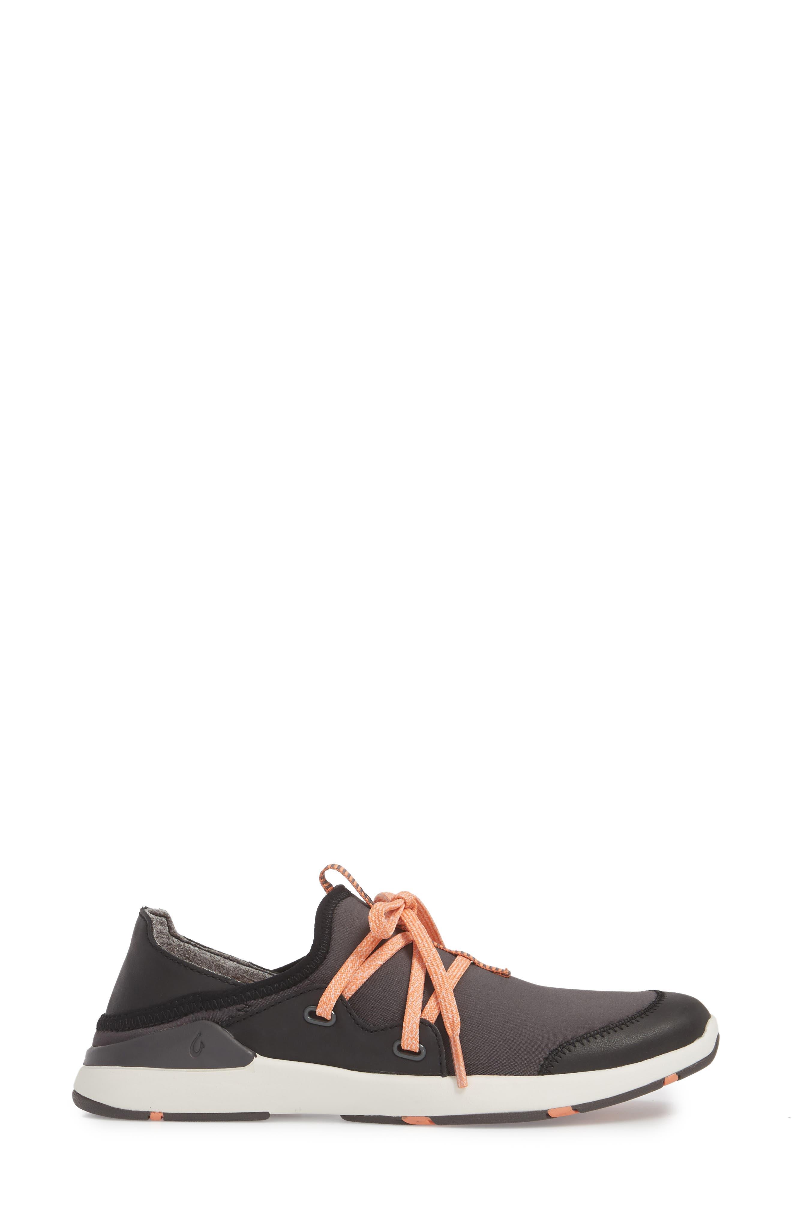 Miki Li Convertible Sneaker,                             Alternate thumbnail 3, color,                             PAVEMENT/ BLACK FABRIC