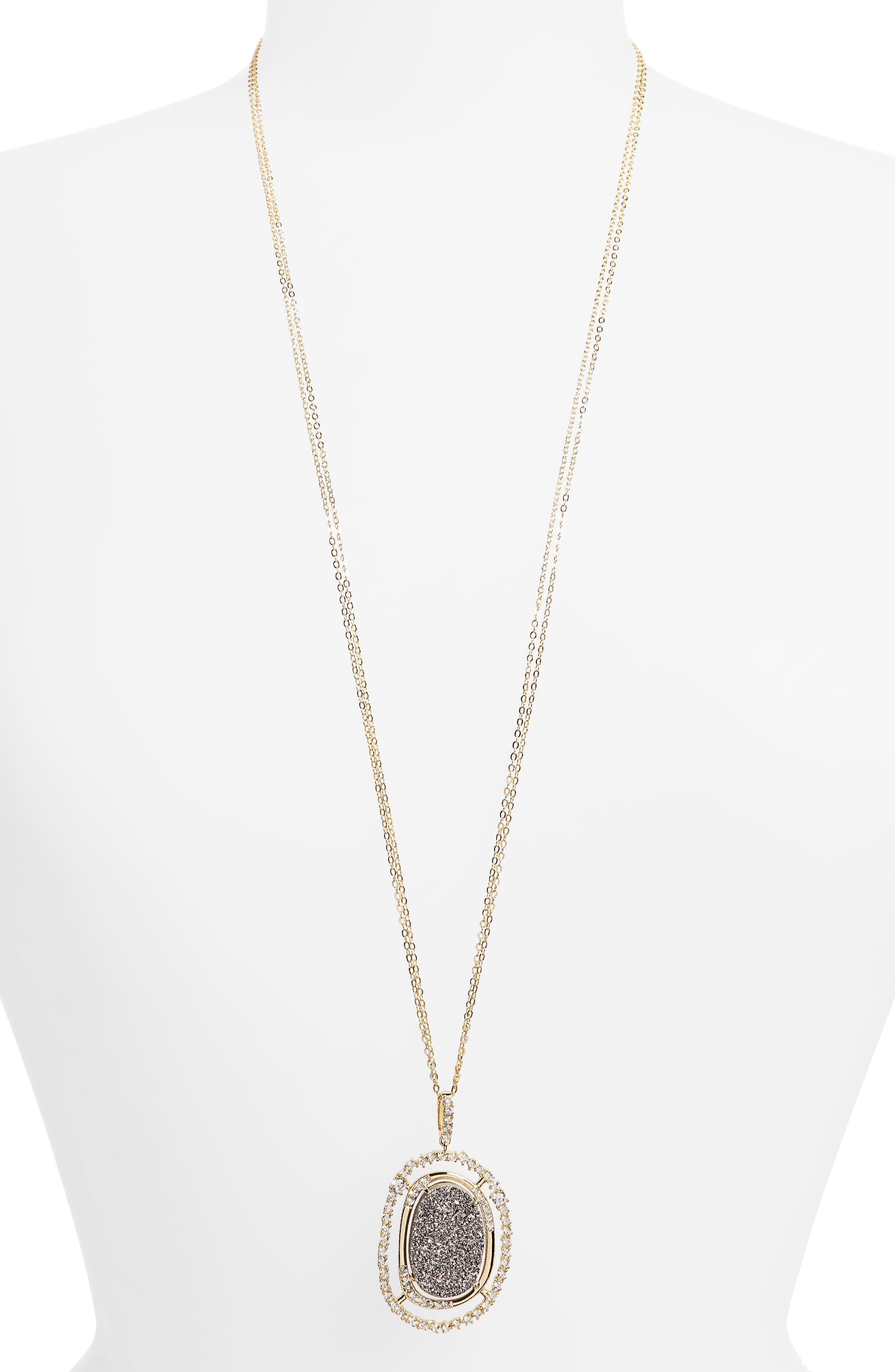 Barrie Long Pendant Necklace,                         Main,                         color, 710