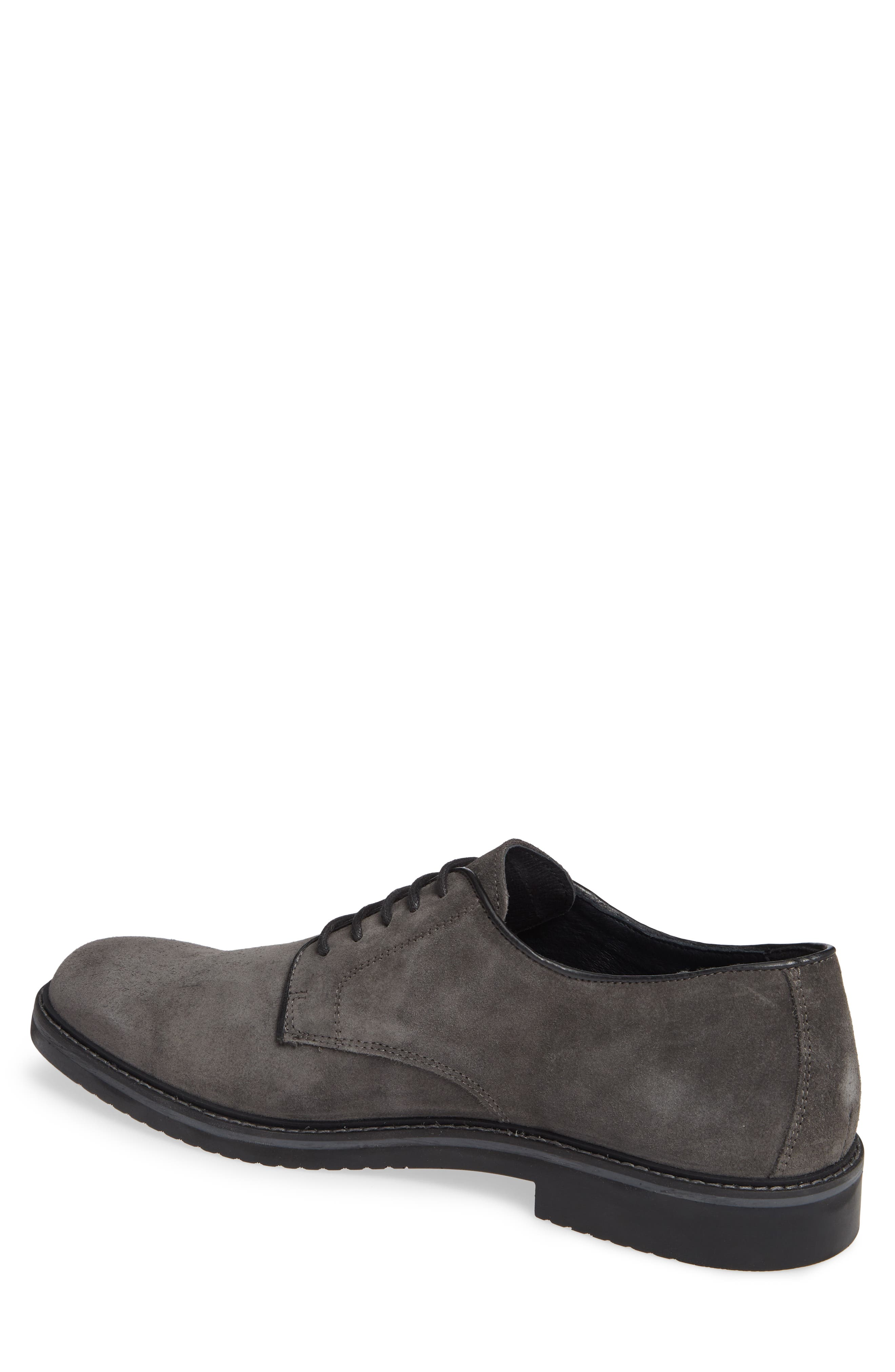 Cardiff Plain Toe Derby,                             Alternate thumbnail 2, color,                             CHARCOAL SUEDE