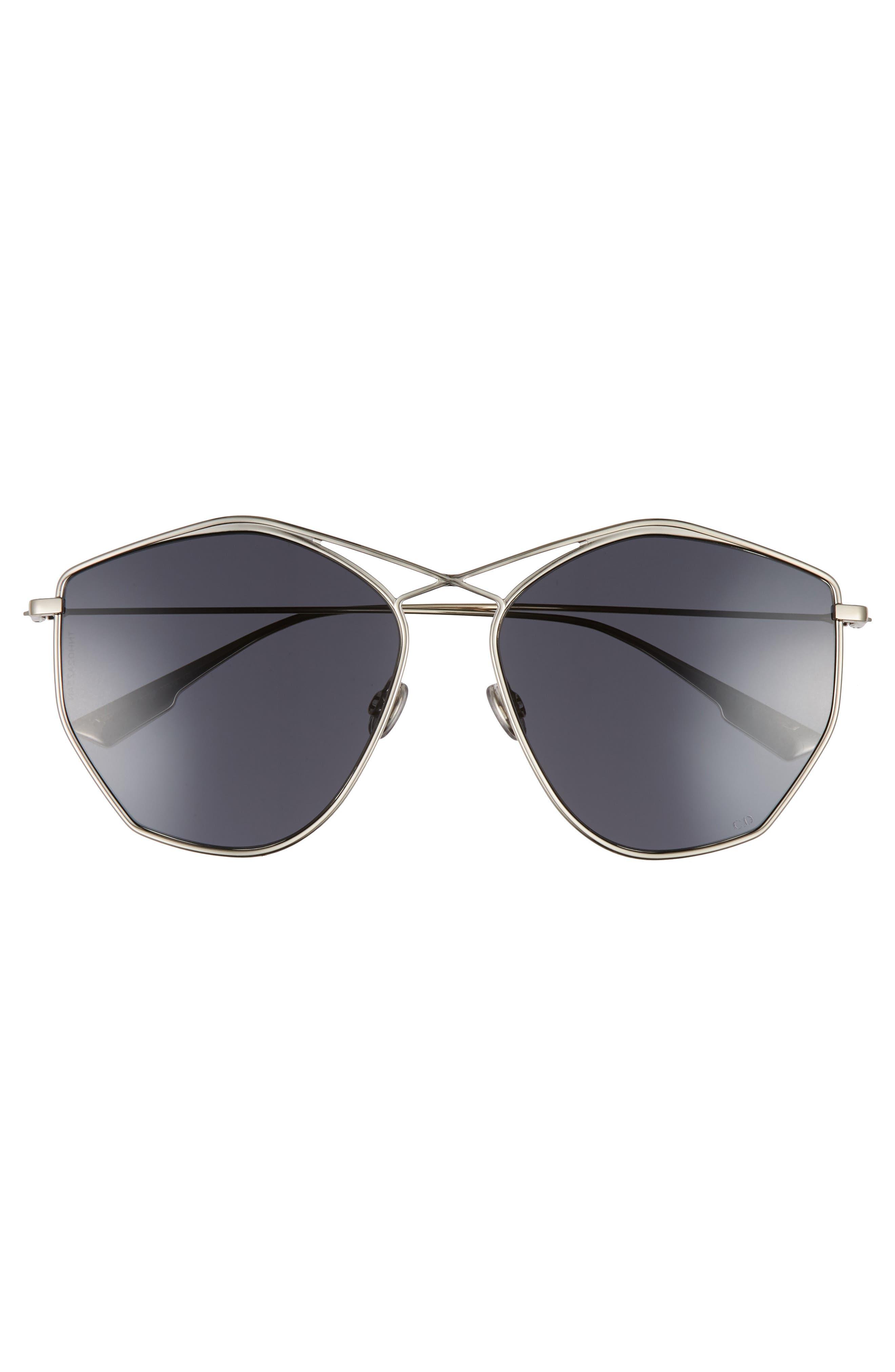 59mm Metal Sunglasses,                             Alternate thumbnail 3, color,                             LIGHT GOLD