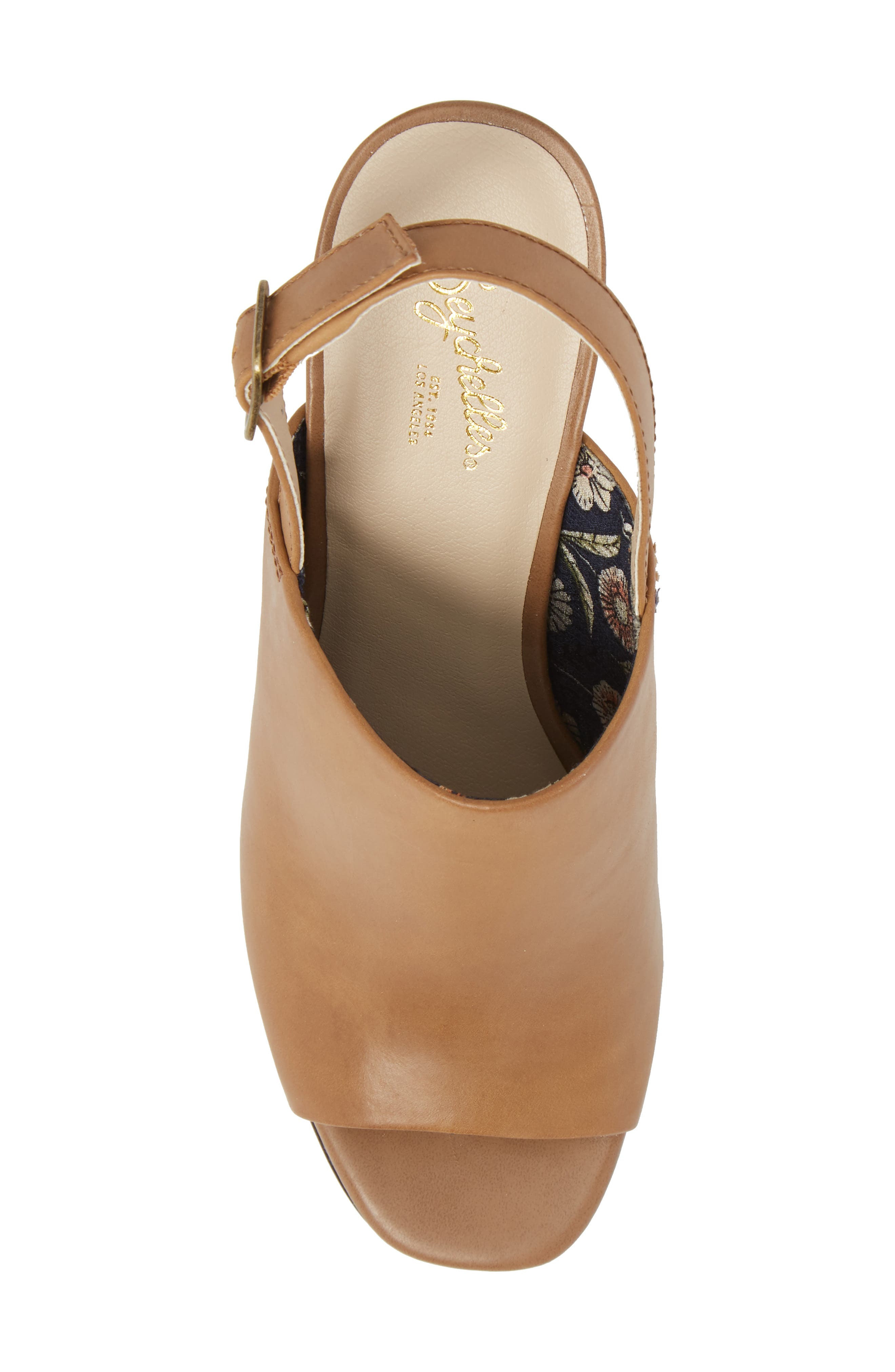 Abyssal Wedge Sandal,                             Alternate thumbnail 5, color,                             TAN LEATHER