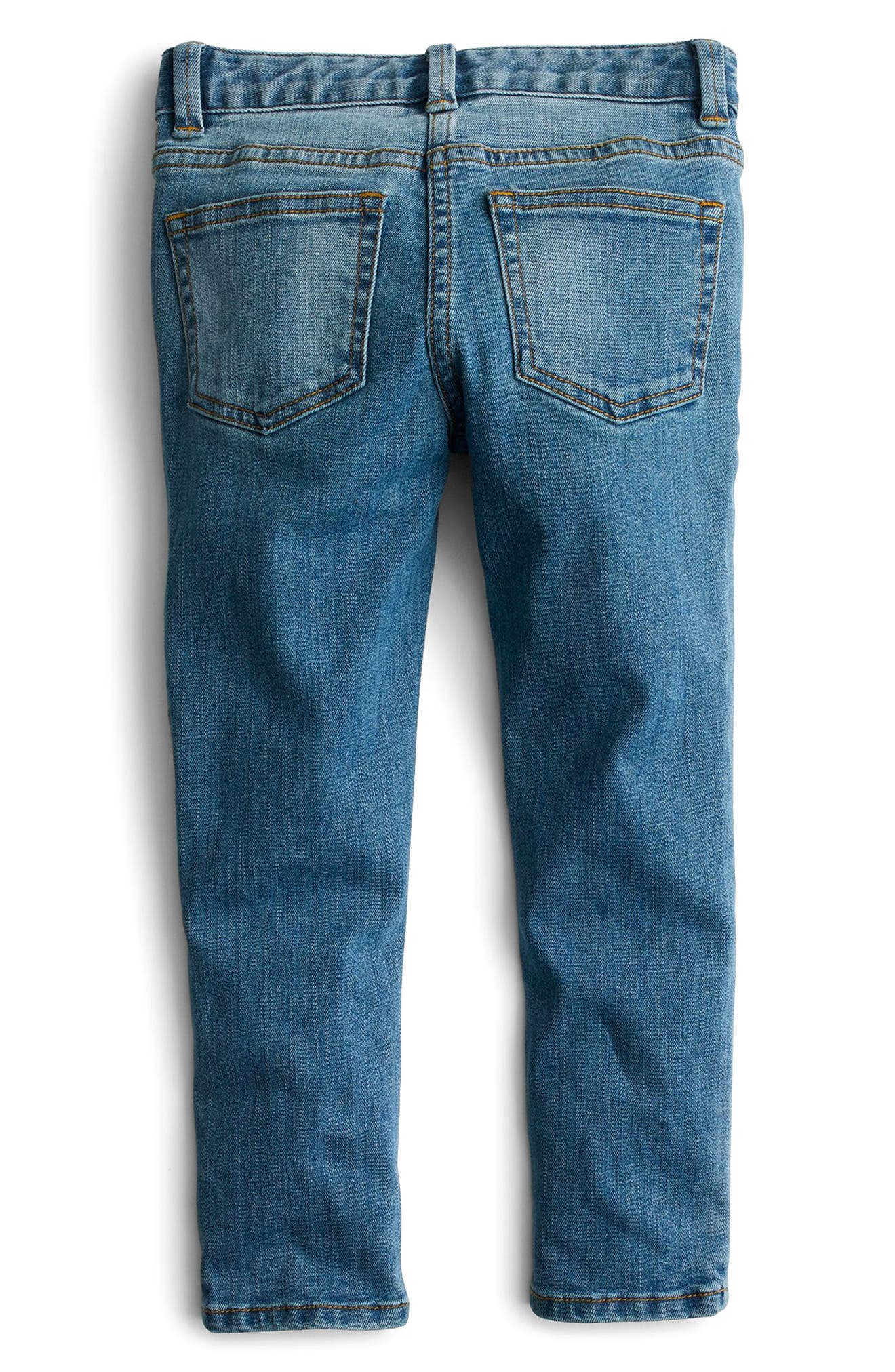 Toothpick Kitten Embroidered Jeans,                             Alternate thumbnail 2, color,                             400