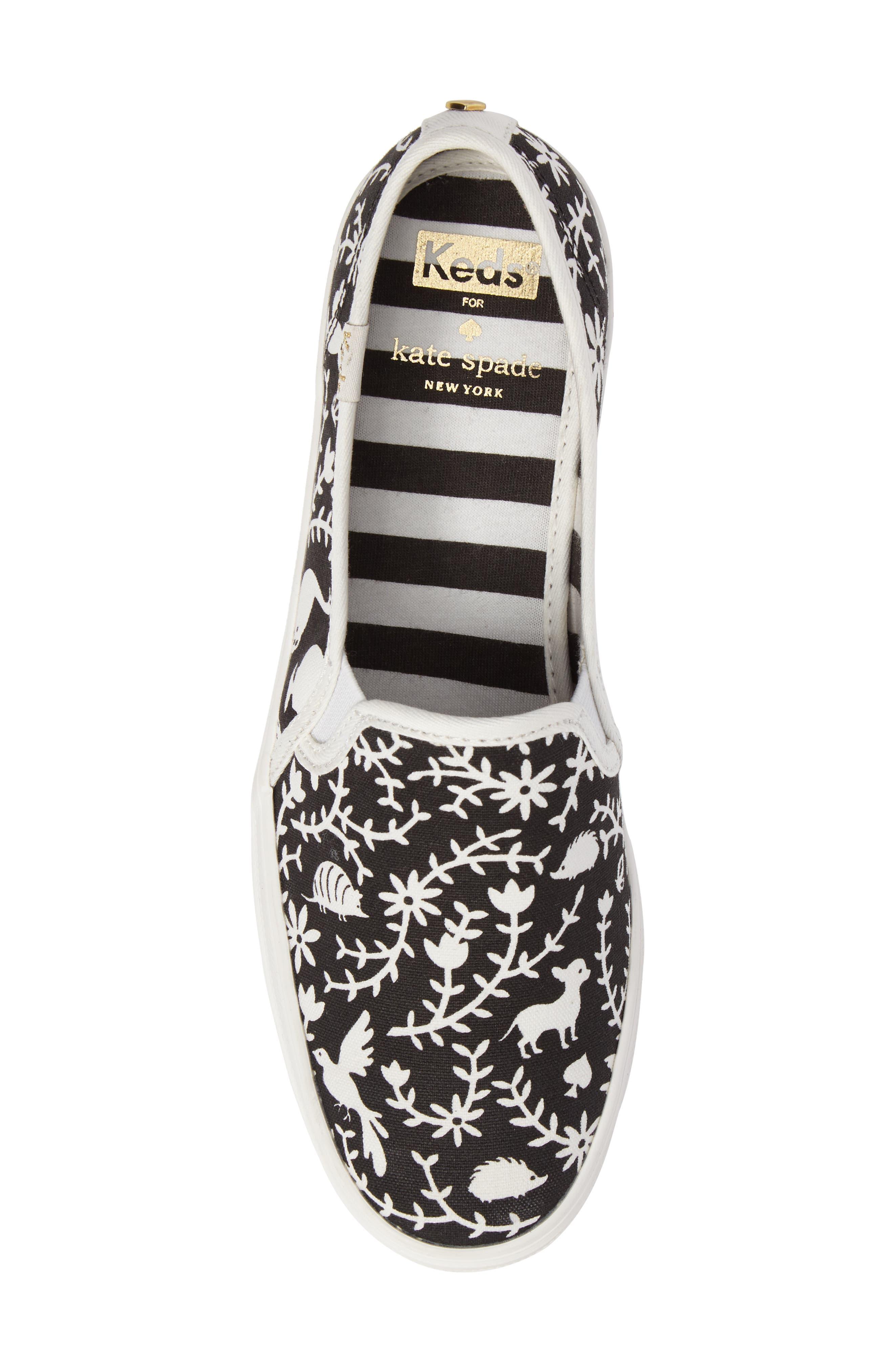 Keds<sup>®</sup> x kate spade Triple Decker Slip-On Sneaker,                             Alternate thumbnail 9, color,