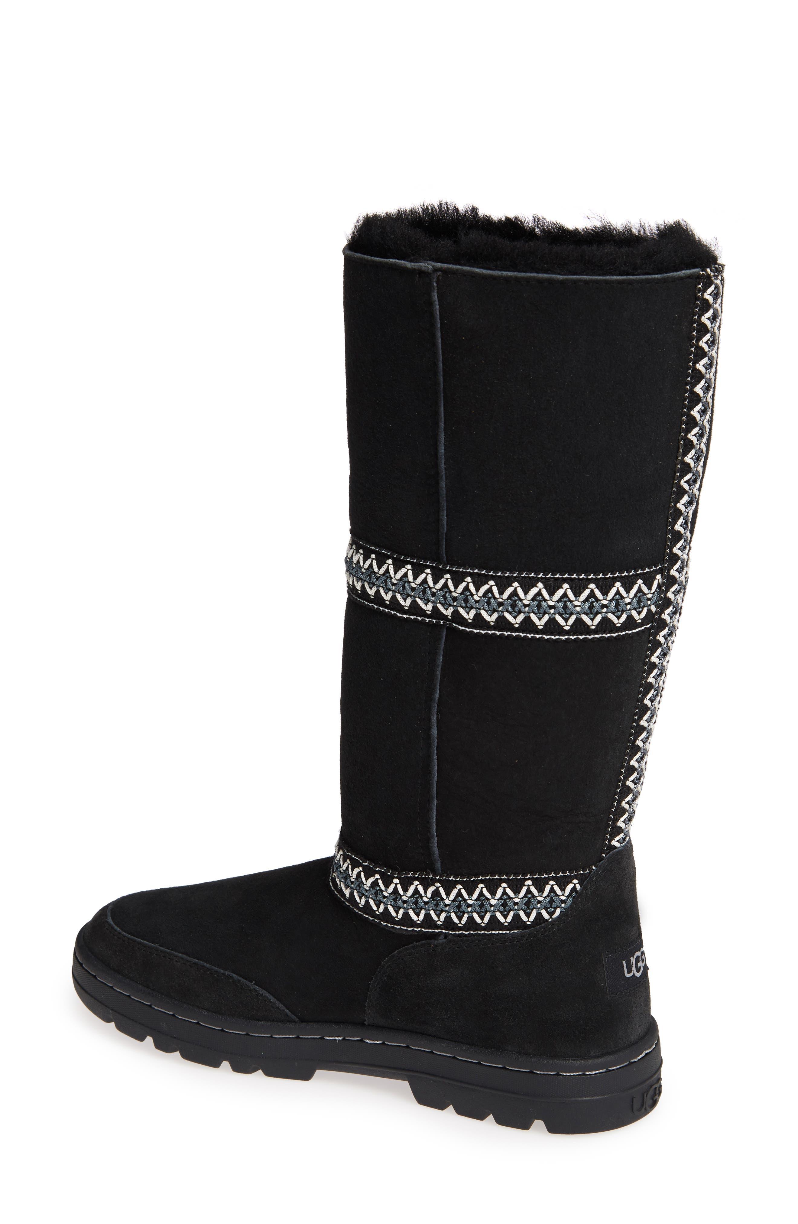 Sundance Revival Genuine Shearling Boot,                             Alternate thumbnail 3, color,                             BLACK