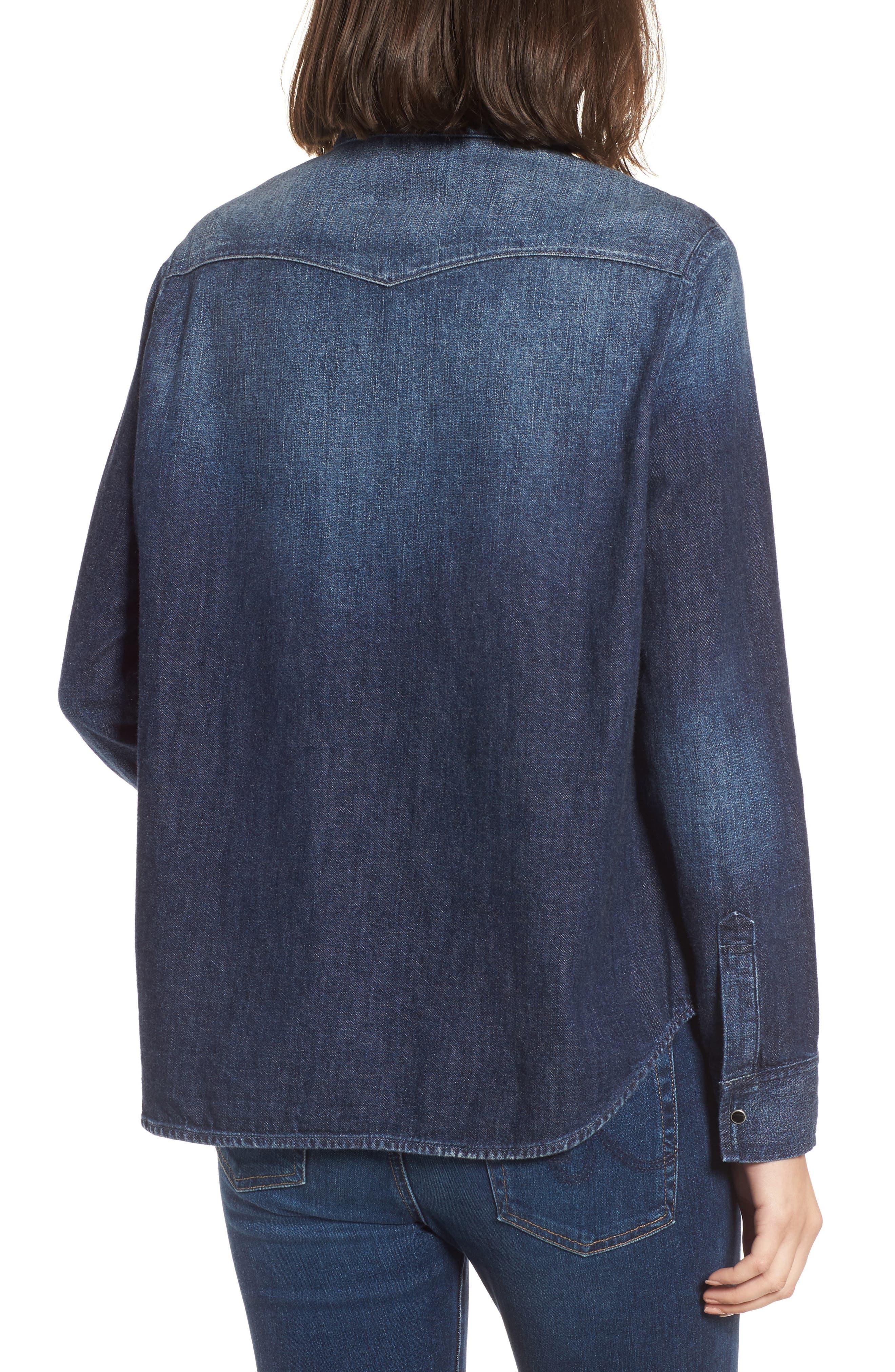 Deanna Denim Shirt,                             Alternate thumbnail 2, color,                             424
