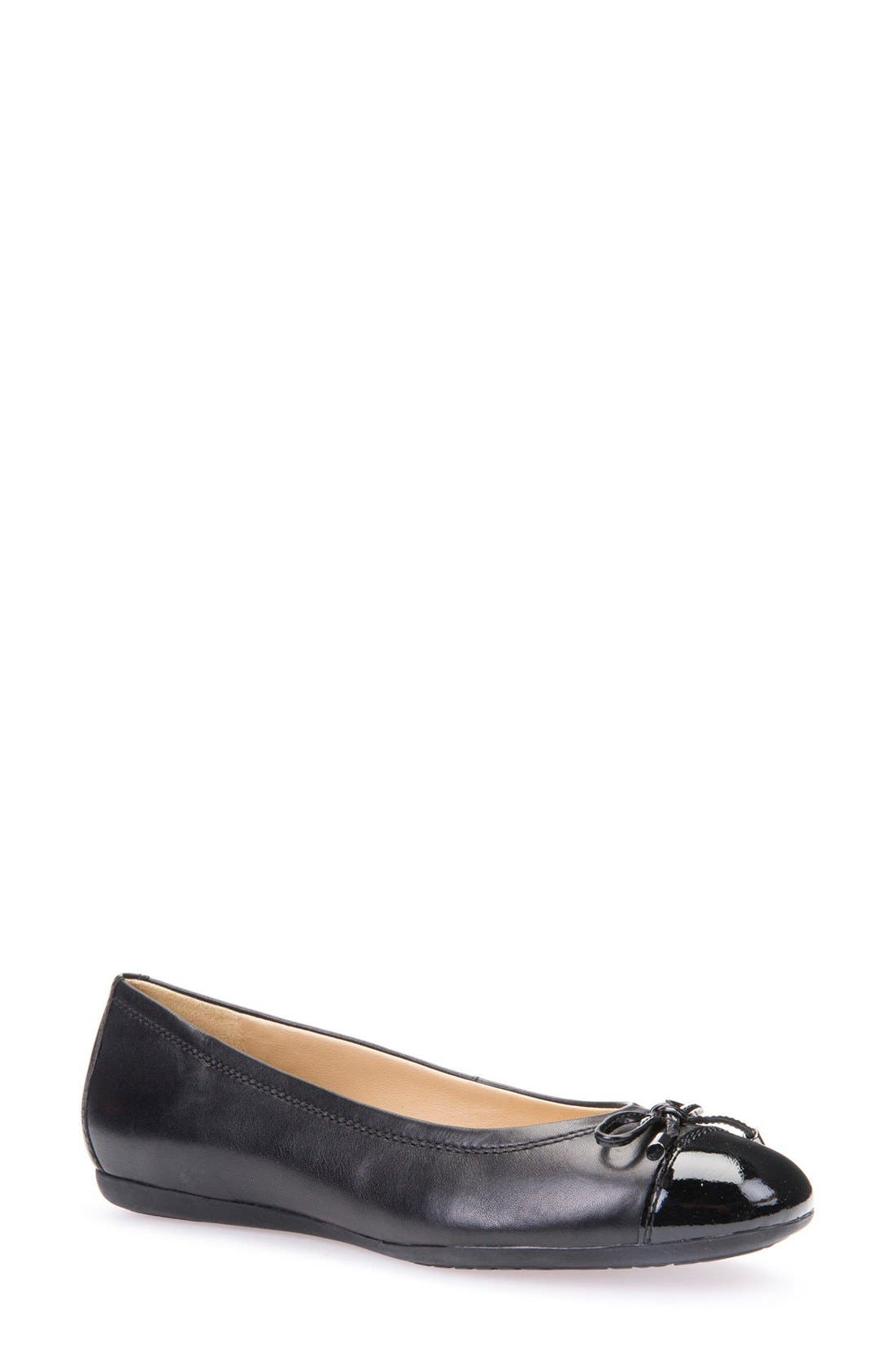 'Lola 16' Cap Toe Ballet Flat,                             Main thumbnail 1, color,