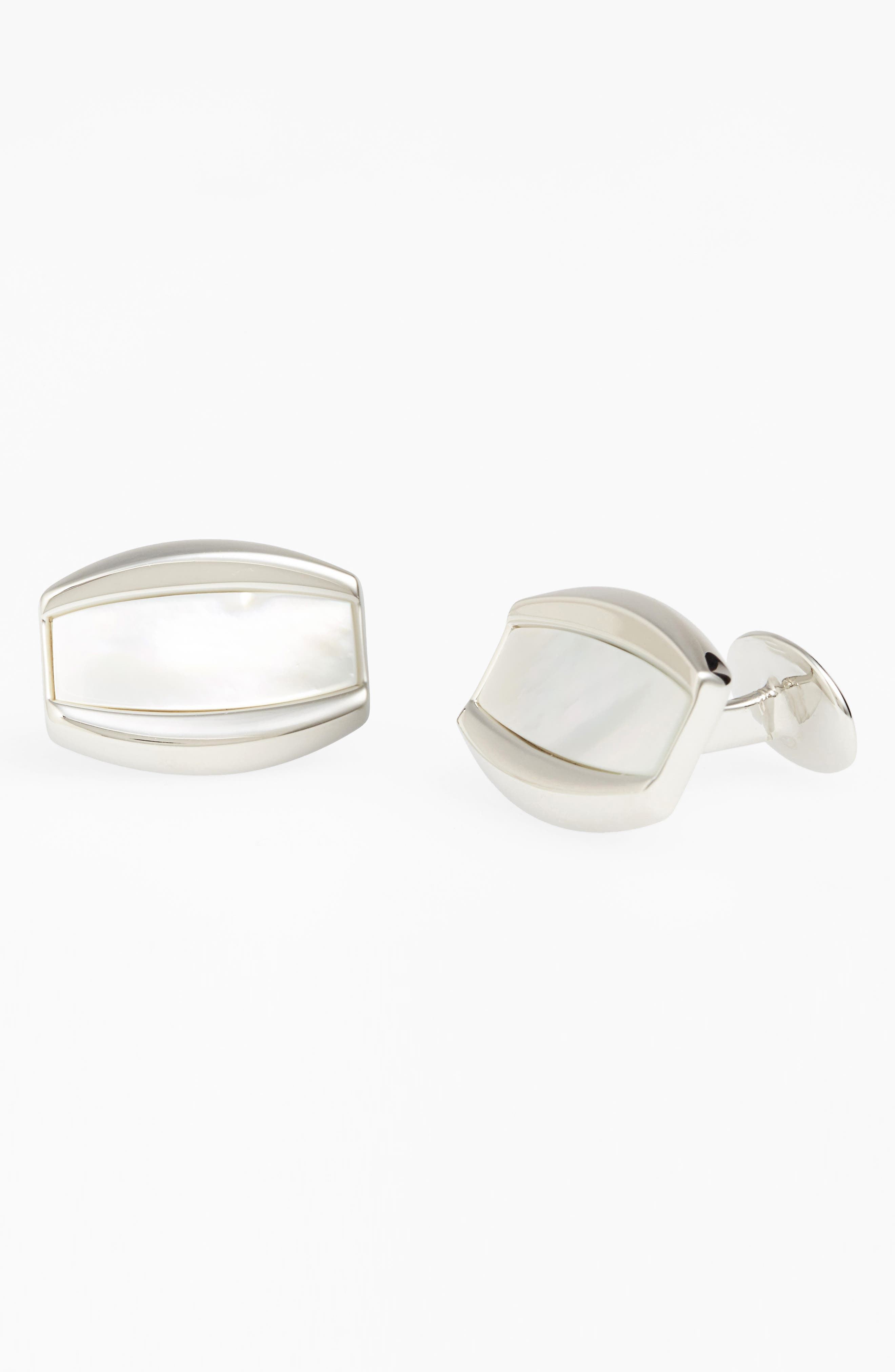 Mother of Pearl Cuff Links,                             Alternate thumbnail 2, color,                             040