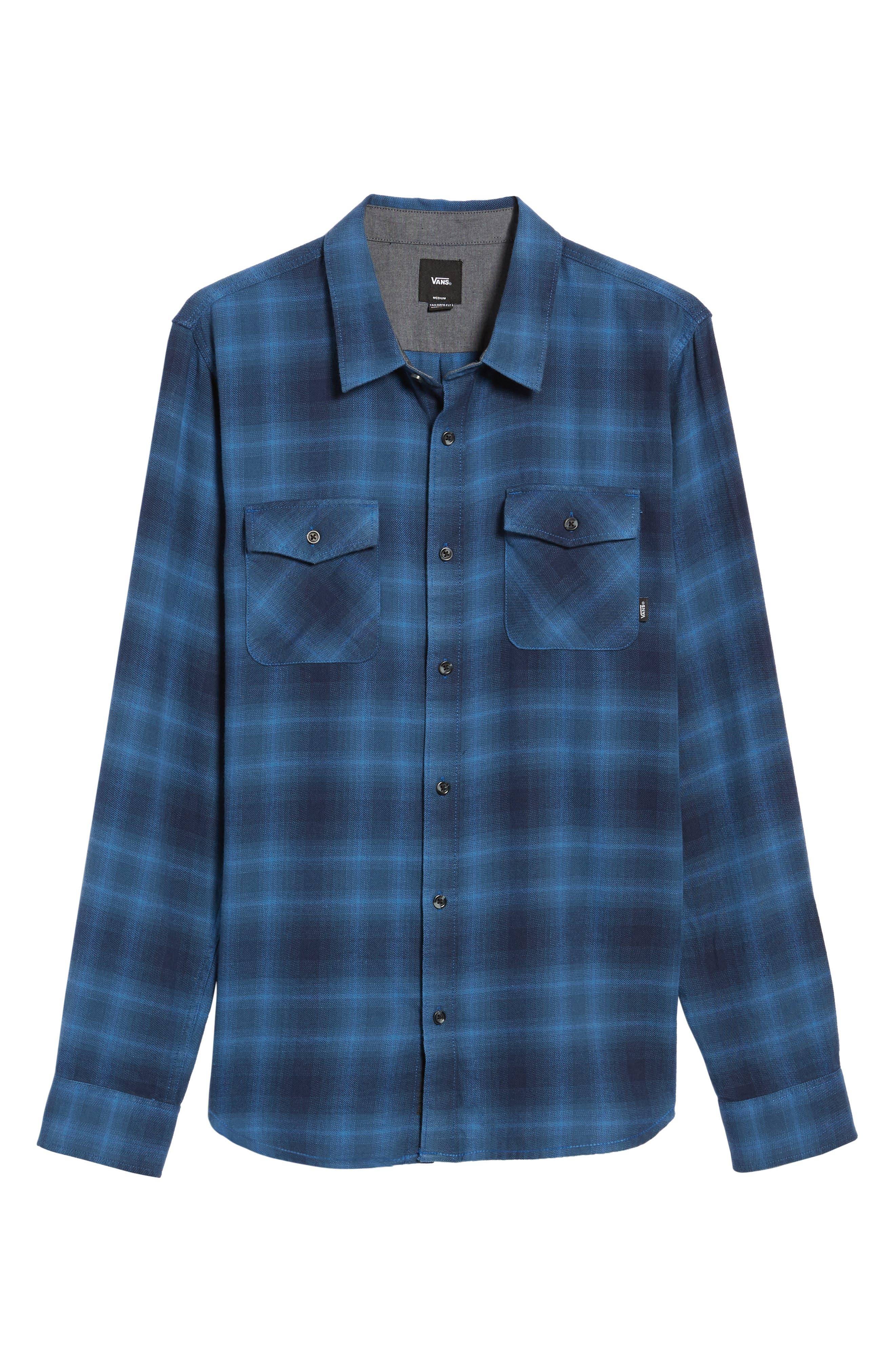 Monterey II Plaid Flannel Sport Shirt,                             Alternate thumbnail 6, color,                             420