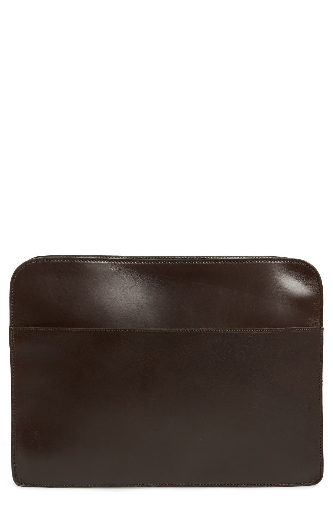 Calfskin Leather Large Zip Around Portfolio,                             Main thumbnail 1, color,                             930