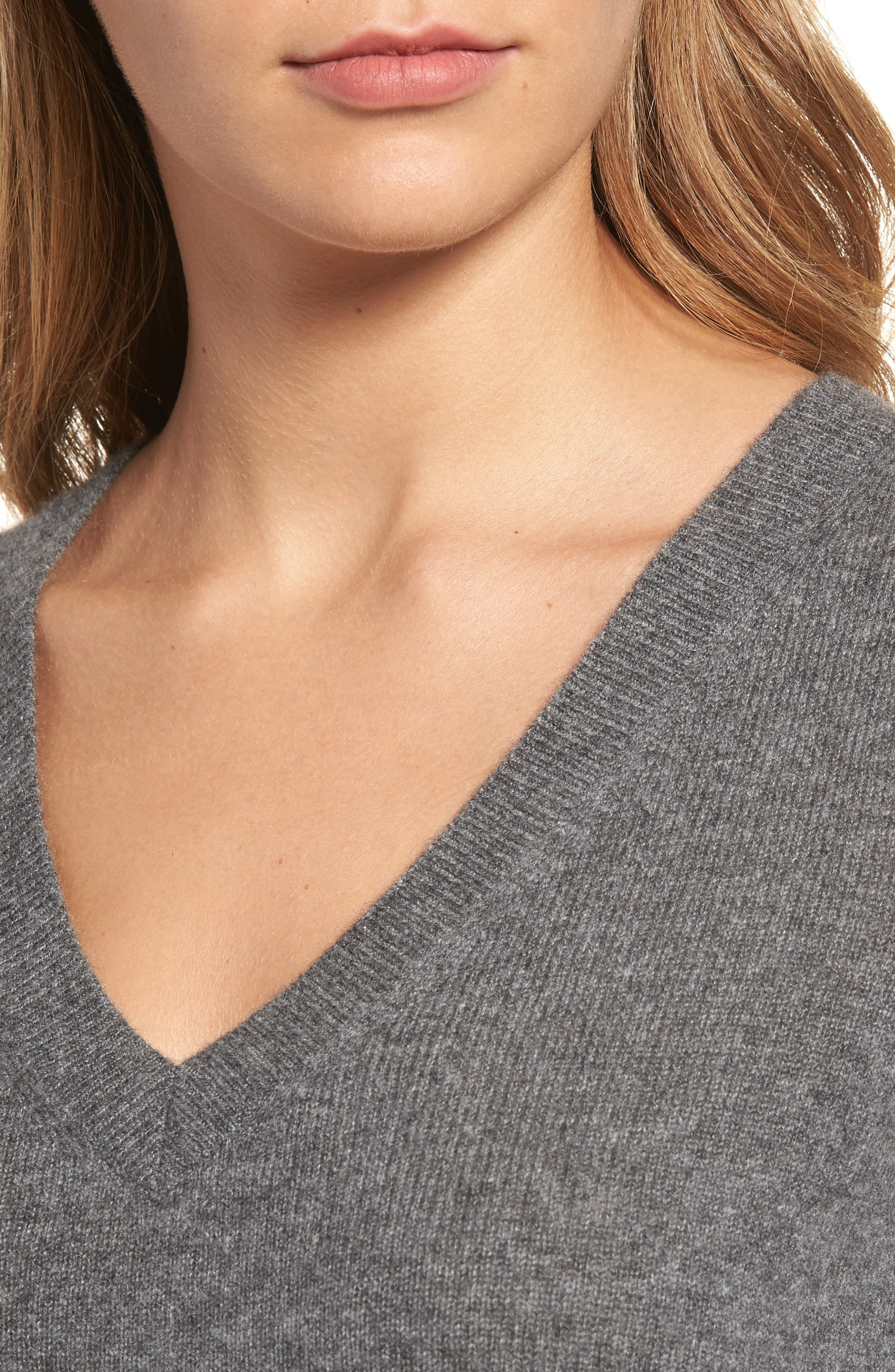 V-Neck Cashmere Sweater,                             Alternate thumbnail 55, color,