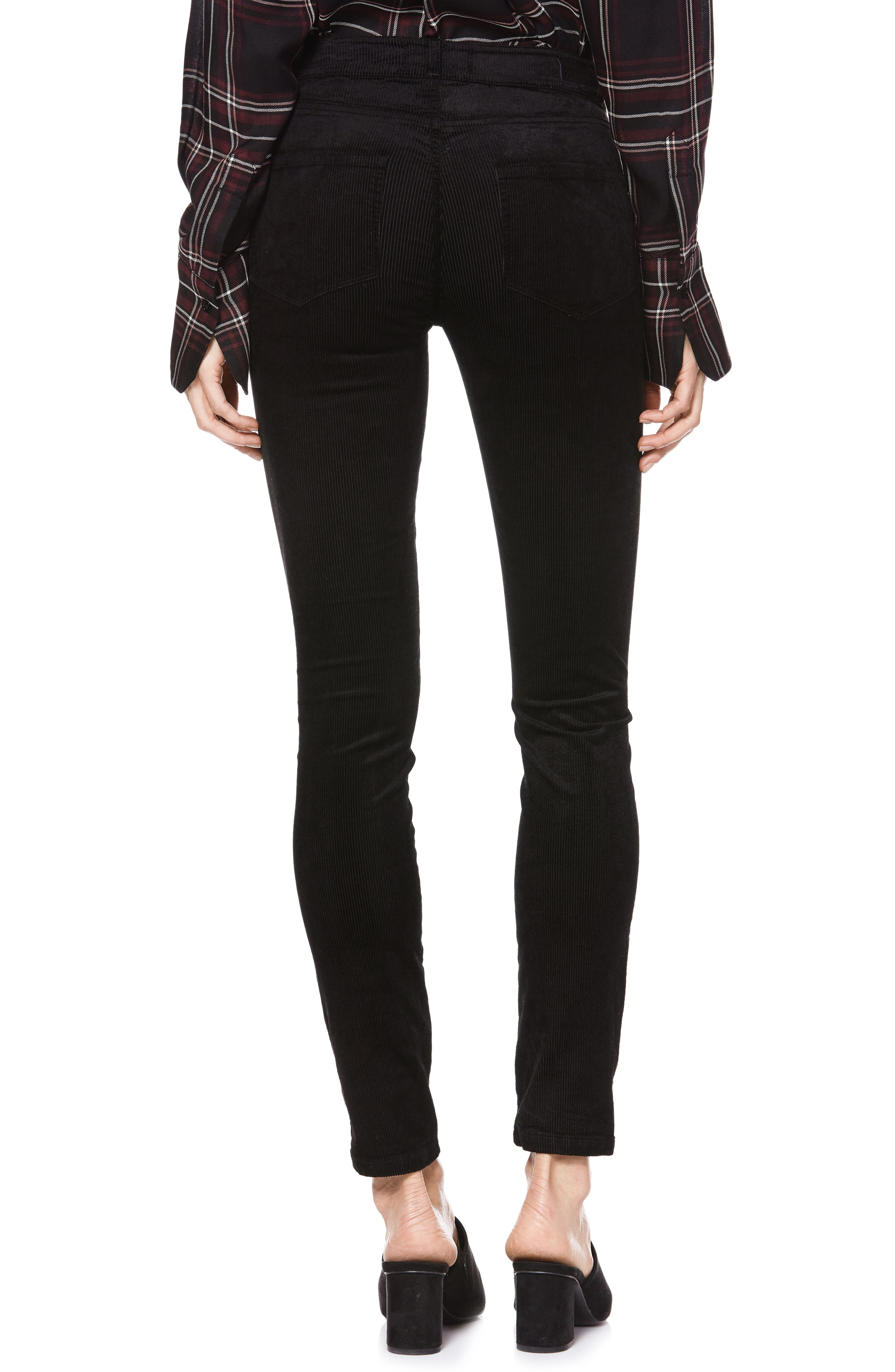 Transcend - Hoxton High Waist Ultra Skinny Jeans,                             Alternate thumbnail 2, color,                             BLACK VELVET CORD