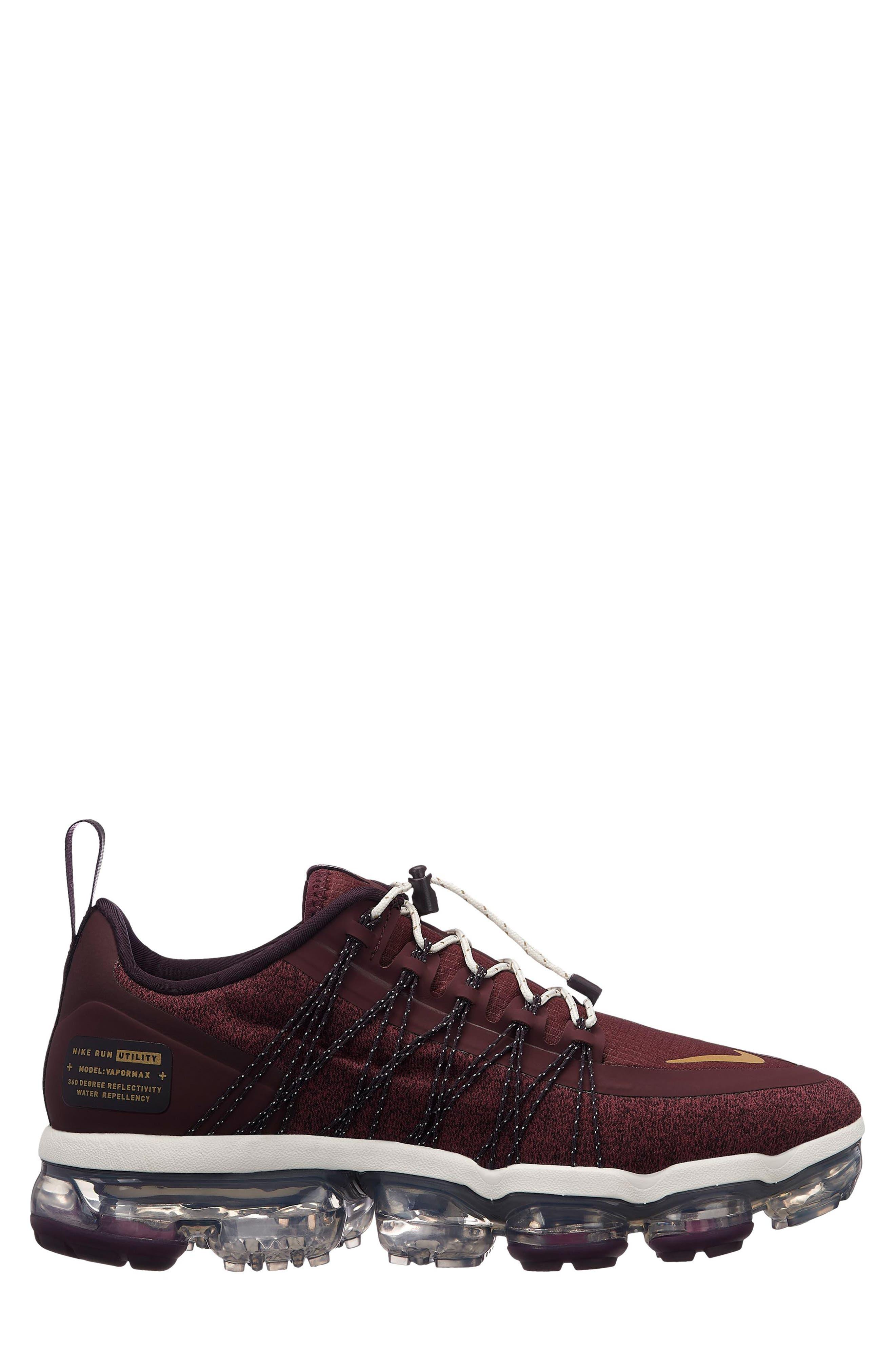 Air Vapormax Run Utility Sneaker,                             Main thumbnail 1, color,                             BURGUNDY CRUSH/ METALLIC GOLD