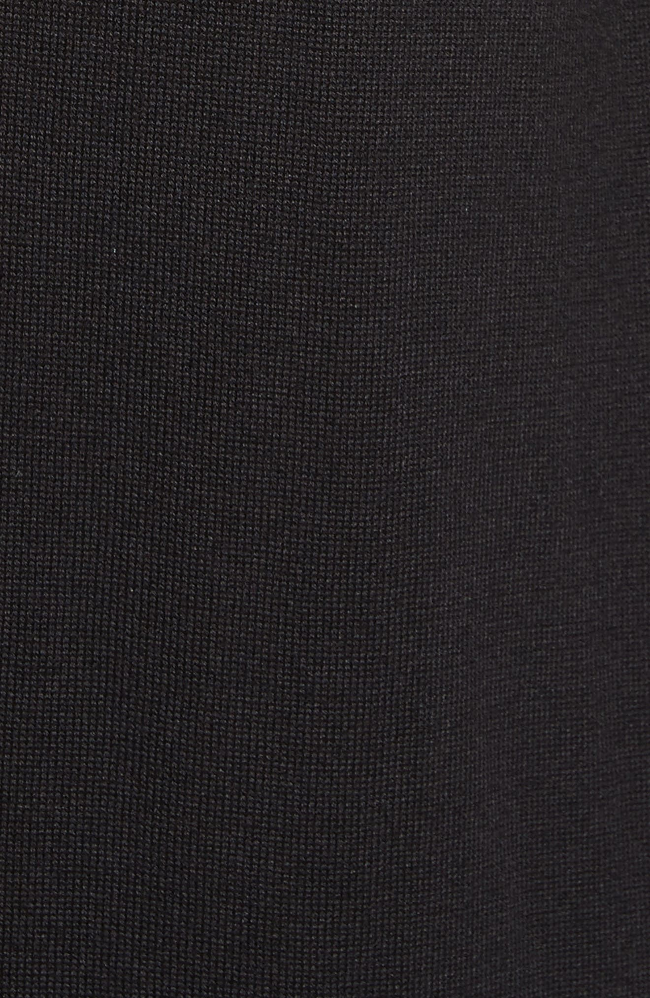 Knit Waterfall Cardigan,                             Alternate thumbnail 5, color,                             CAVIAR