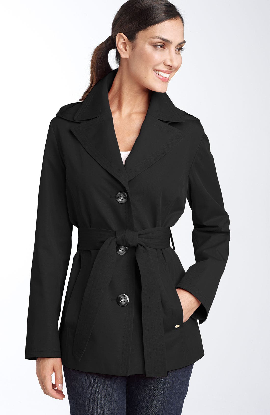 Coats Hooded Trench, Main, color, 001