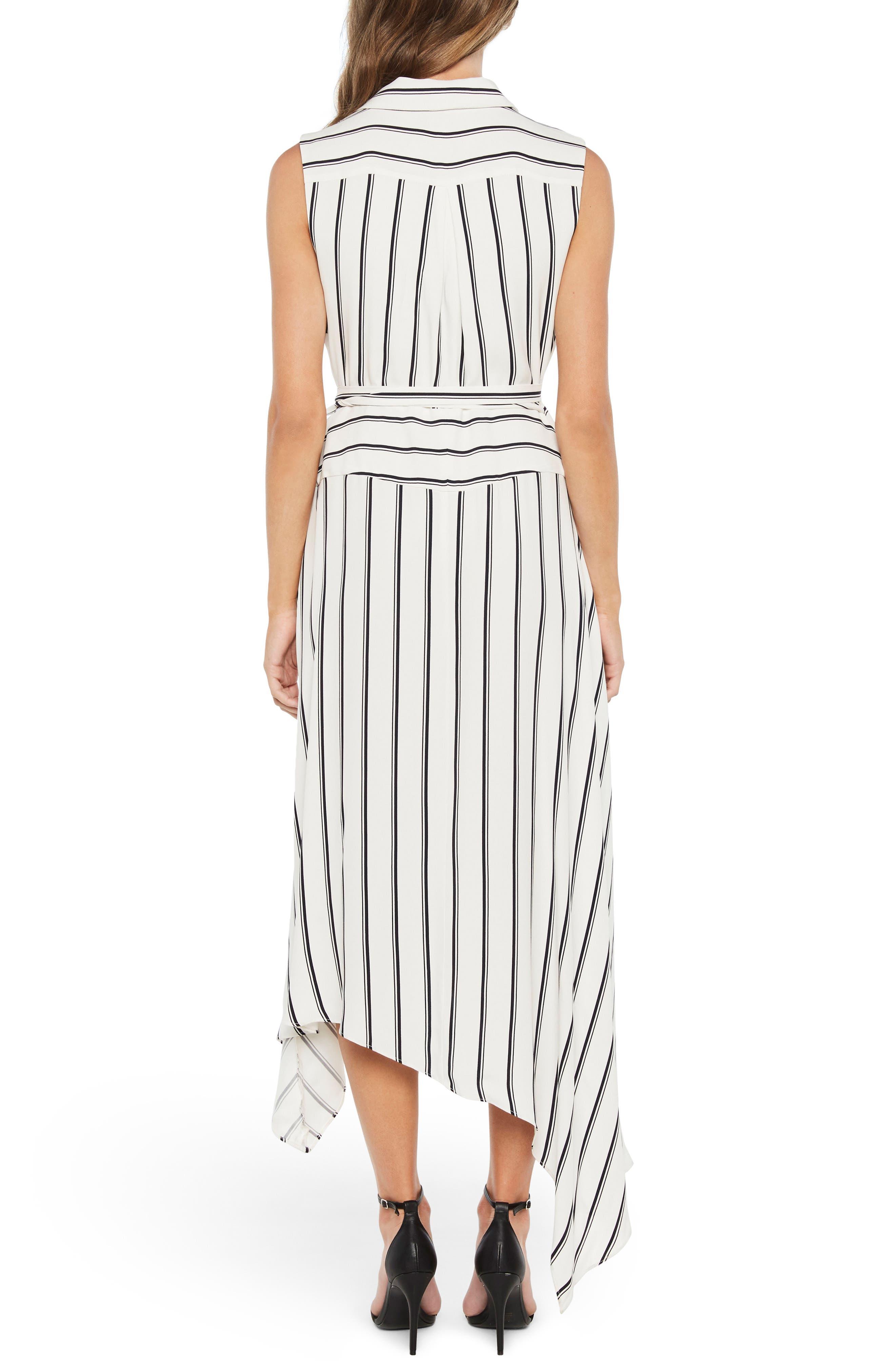 Salina Stripe Asymmetric Wrap Dress,                             Alternate thumbnail 2, color,                             162