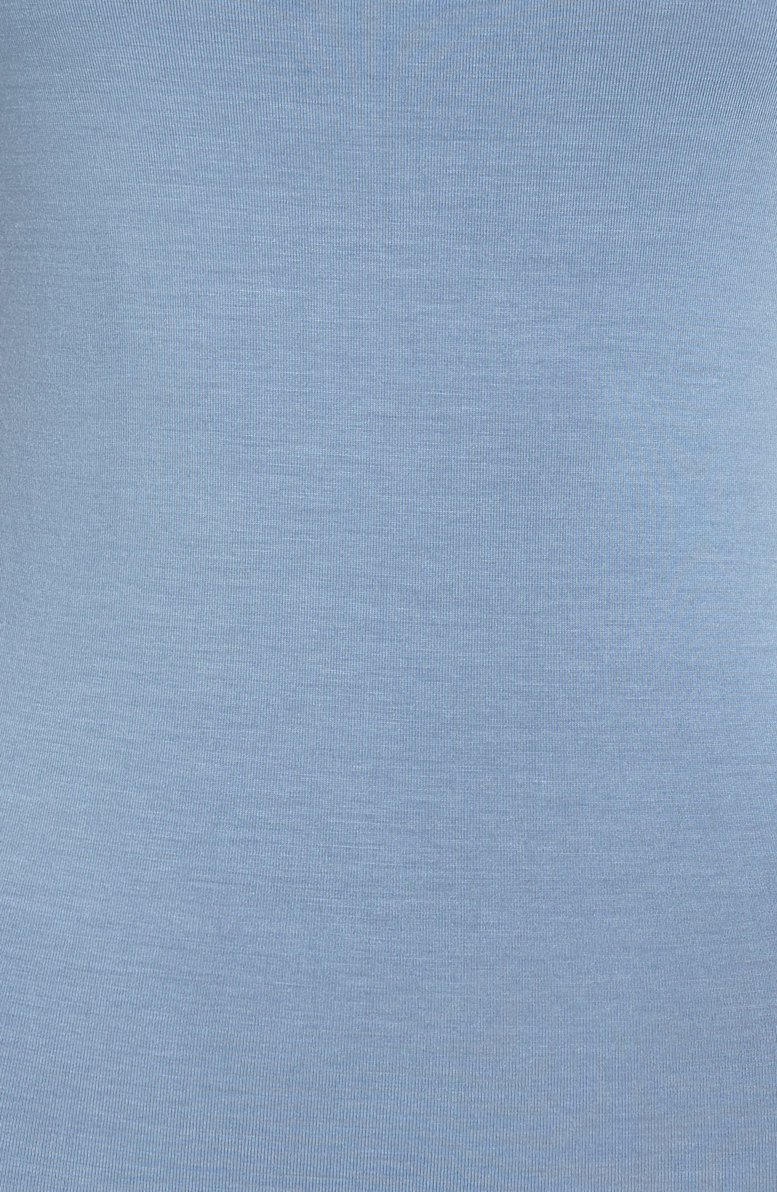 Scoop Back Thong Bodysuit,                             Alternate thumbnail 5, color,                             CARBON BLUE