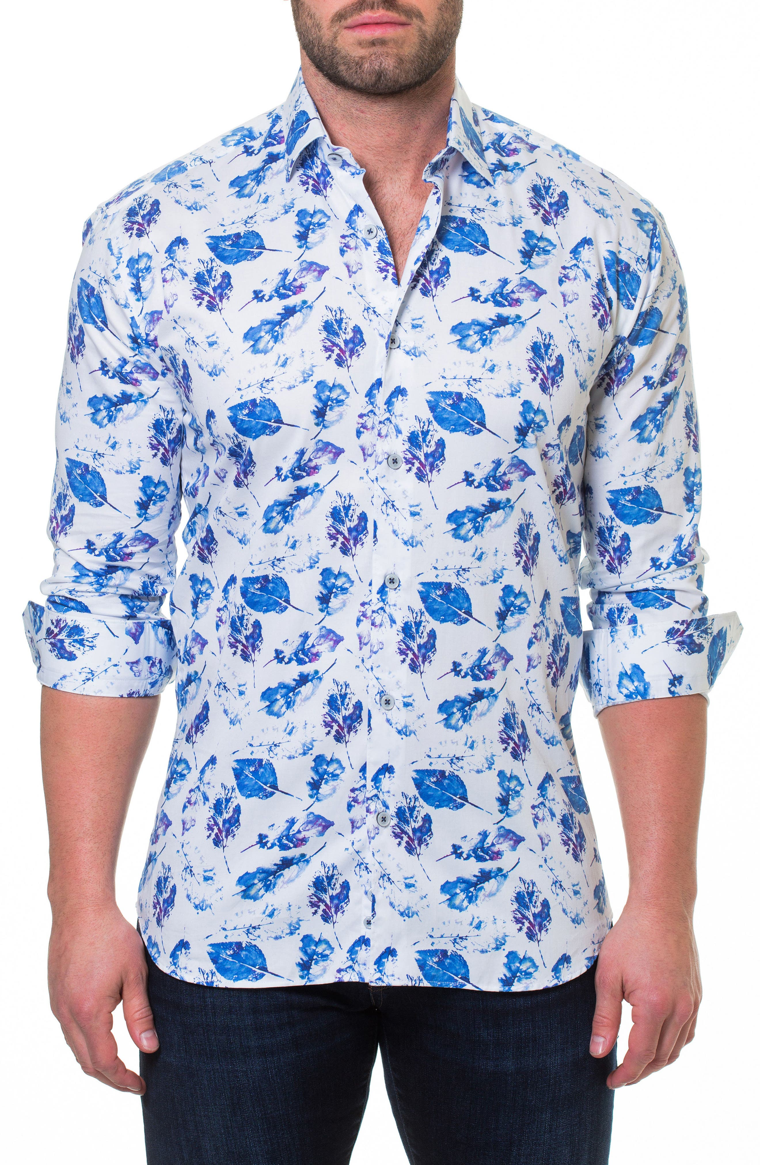 Luxor Peaceful Slim Fit Sport Shirt,                         Main,                         color, WHITE