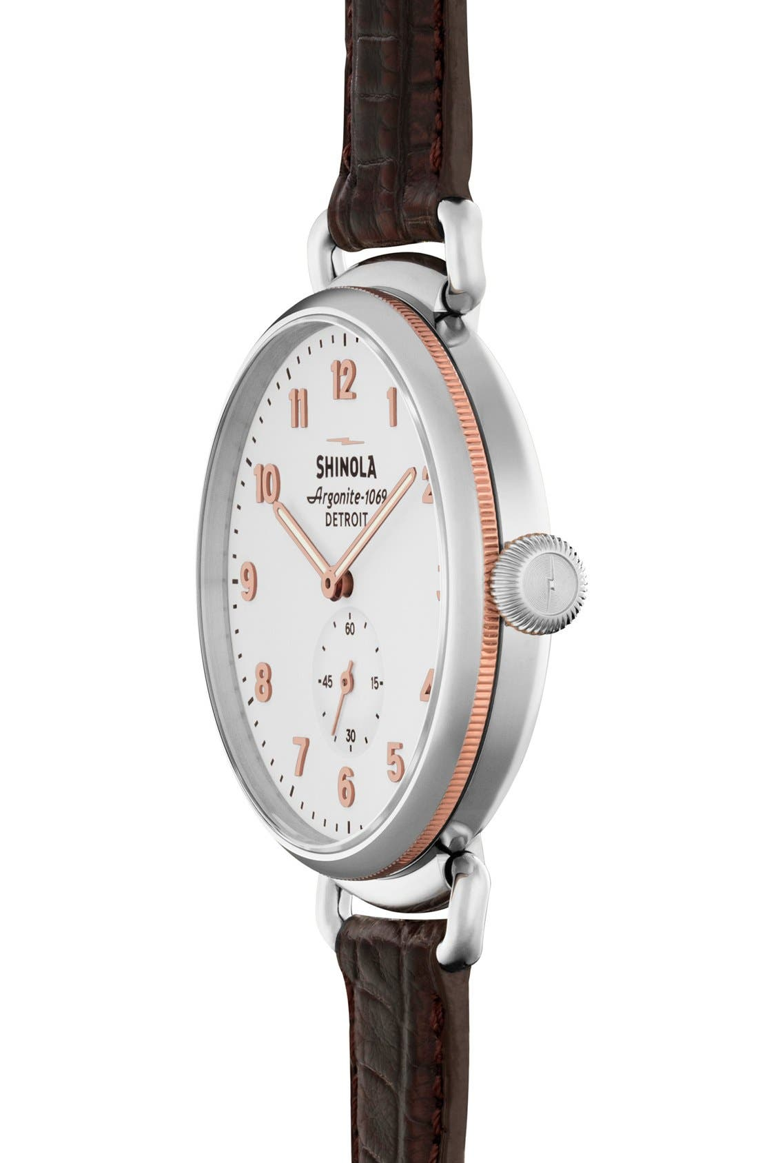 The Canfield Alligator Strap Watch, 38mm,                             Alternate thumbnail 25, color,
