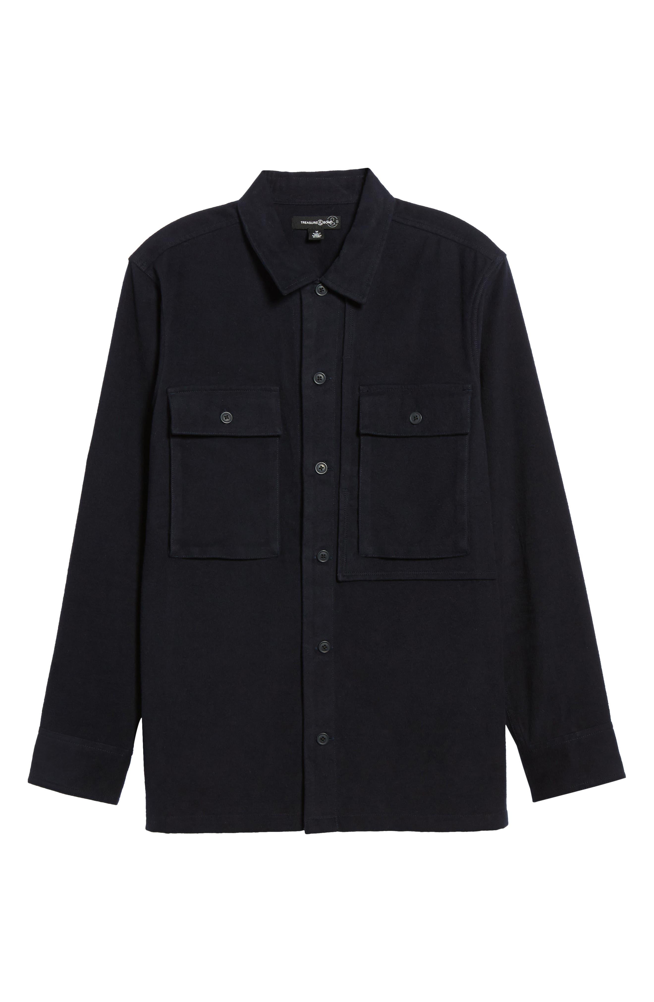 Flannel Shirt Jacket,                             Alternate thumbnail 6, color,