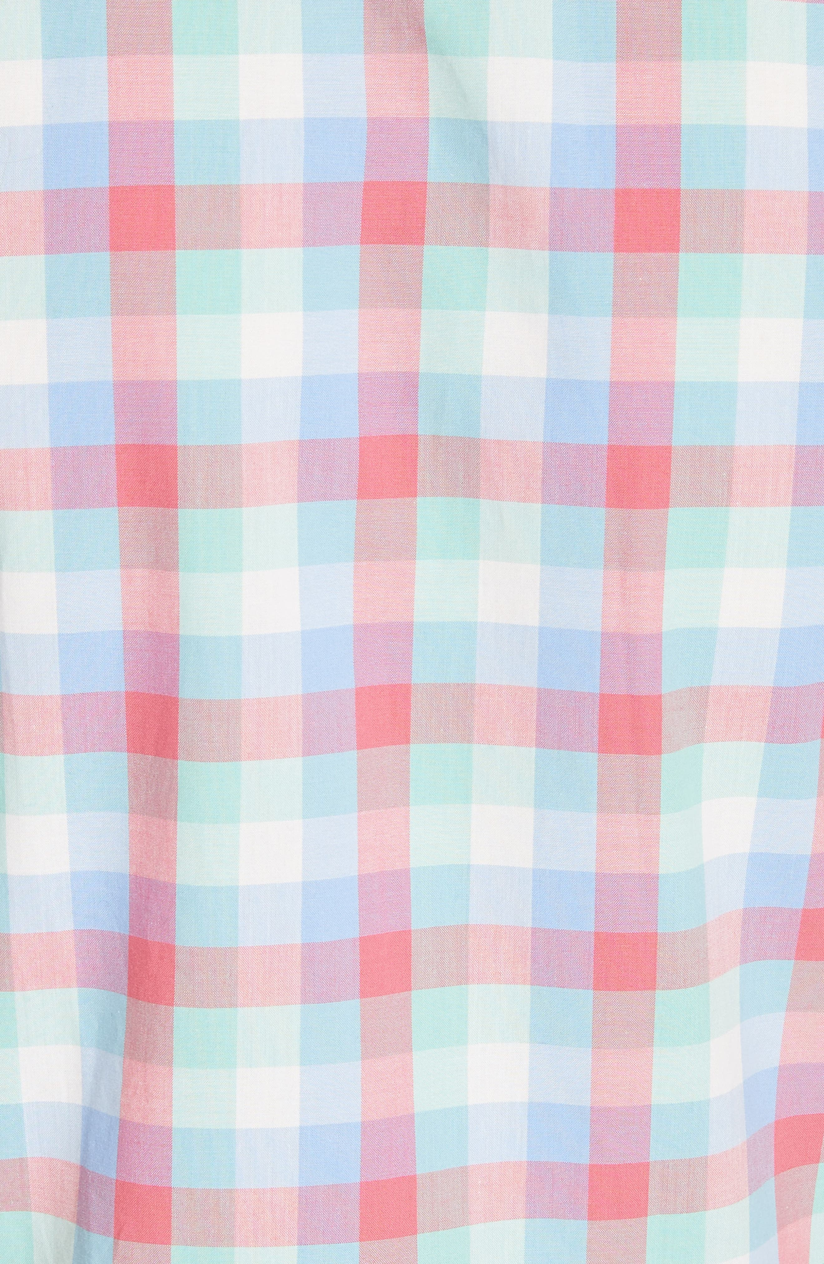 madras poplin shirtdress,                             Alternate thumbnail 5, color,