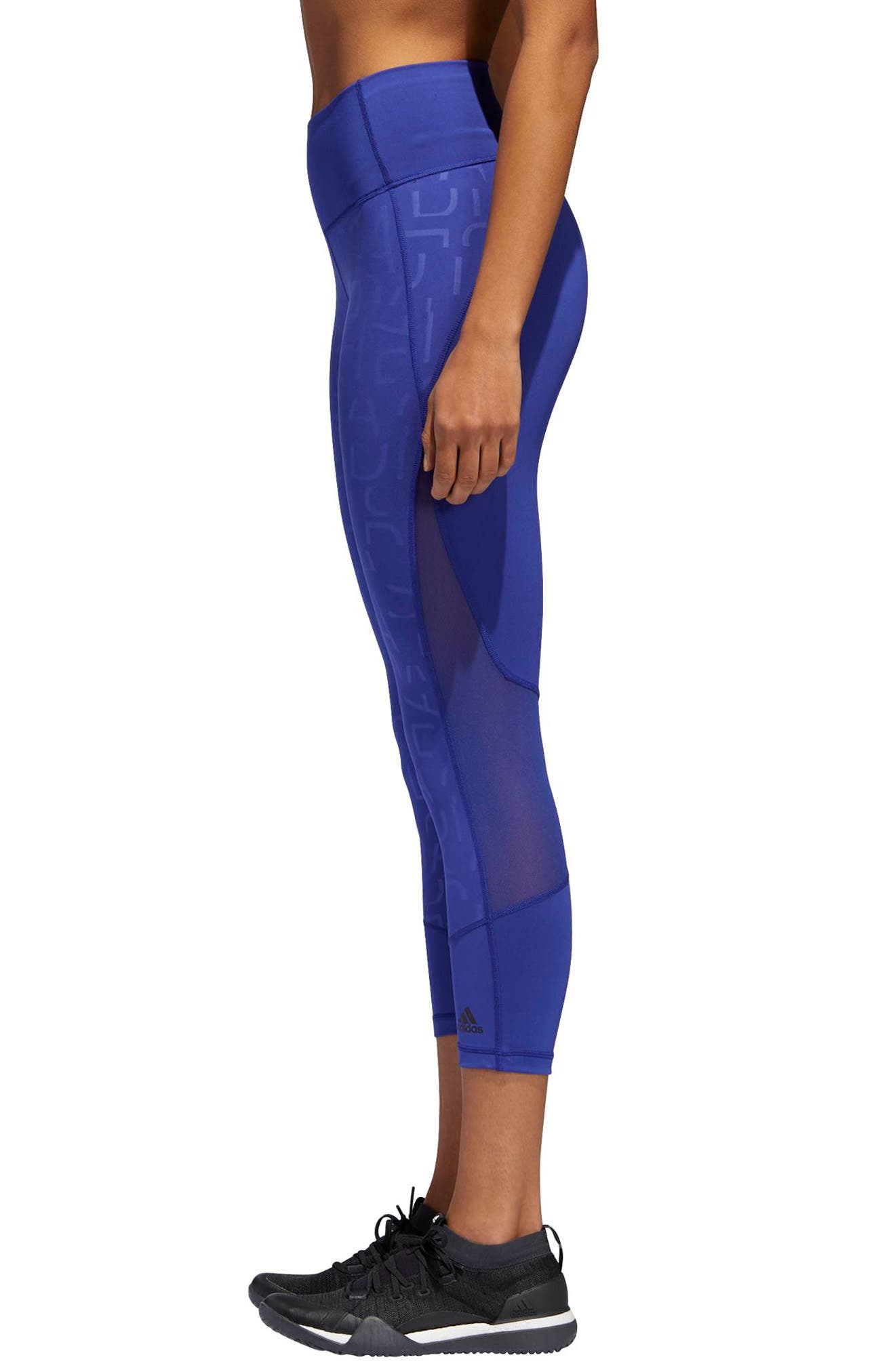 Adihack Crop Tights,                             Alternate thumbnail 3, color,                             500