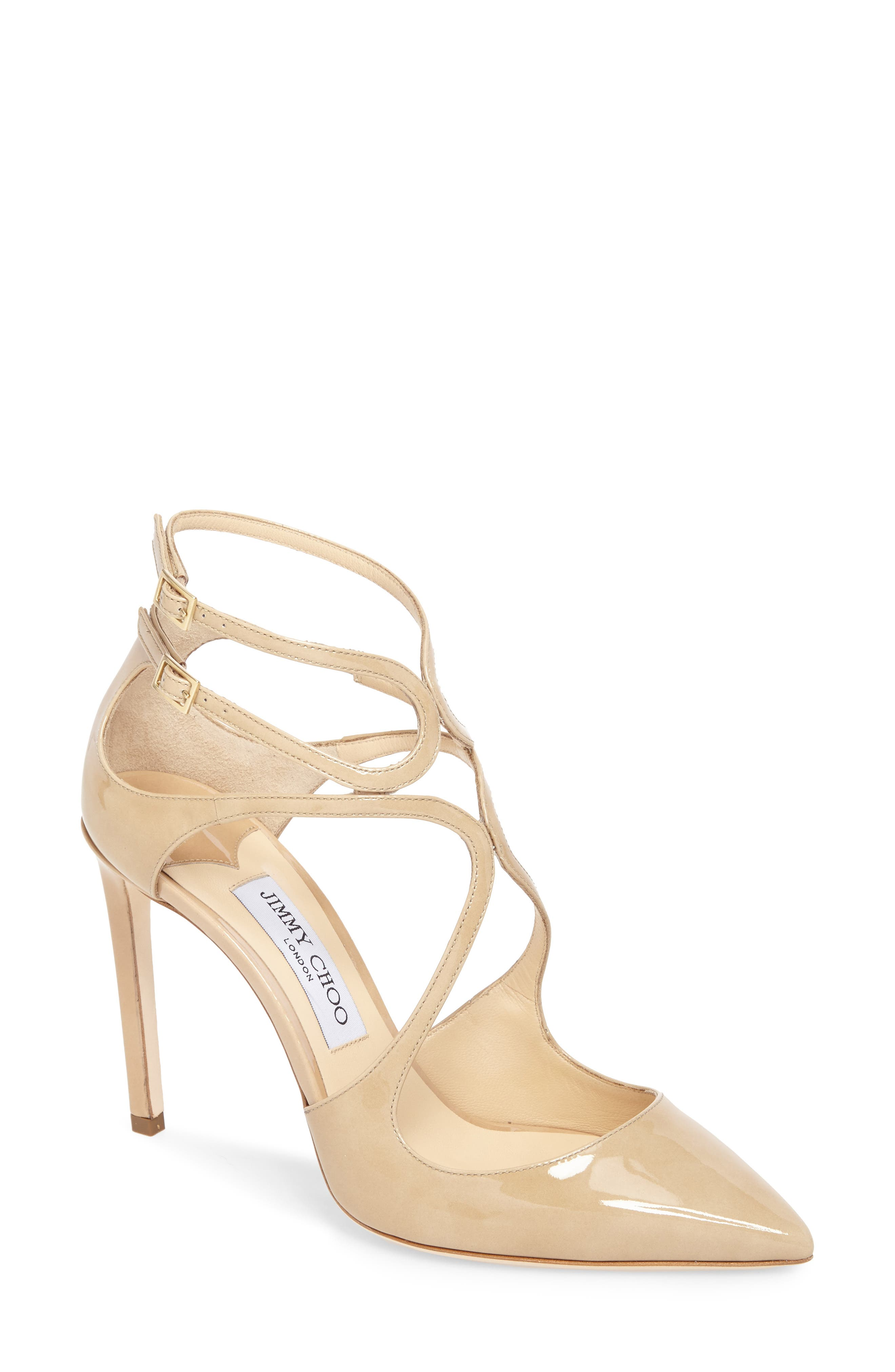 Lancer Strappy Pump,                             Main thumbnail 1, color,                             NUDE PATENT