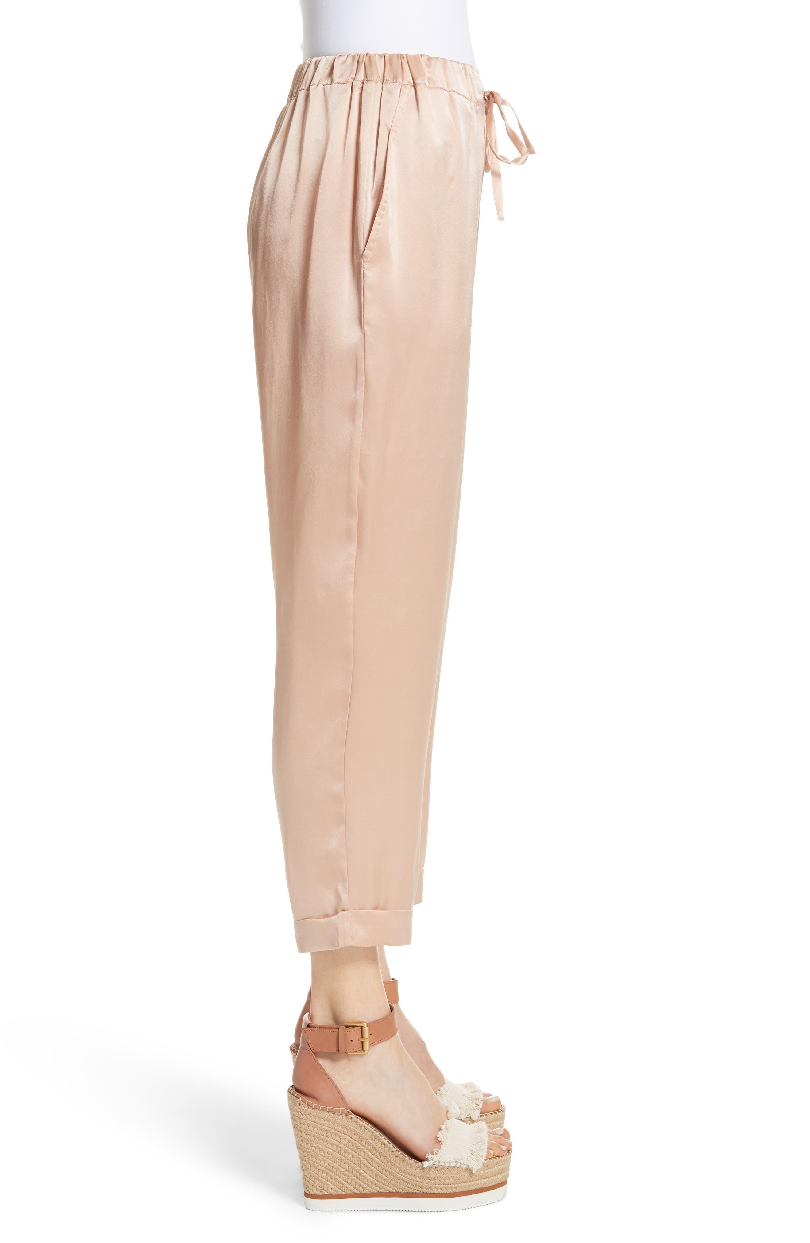 Fester Silk Ankle Pants,                             Alternate thumbnail 3, color,                             250