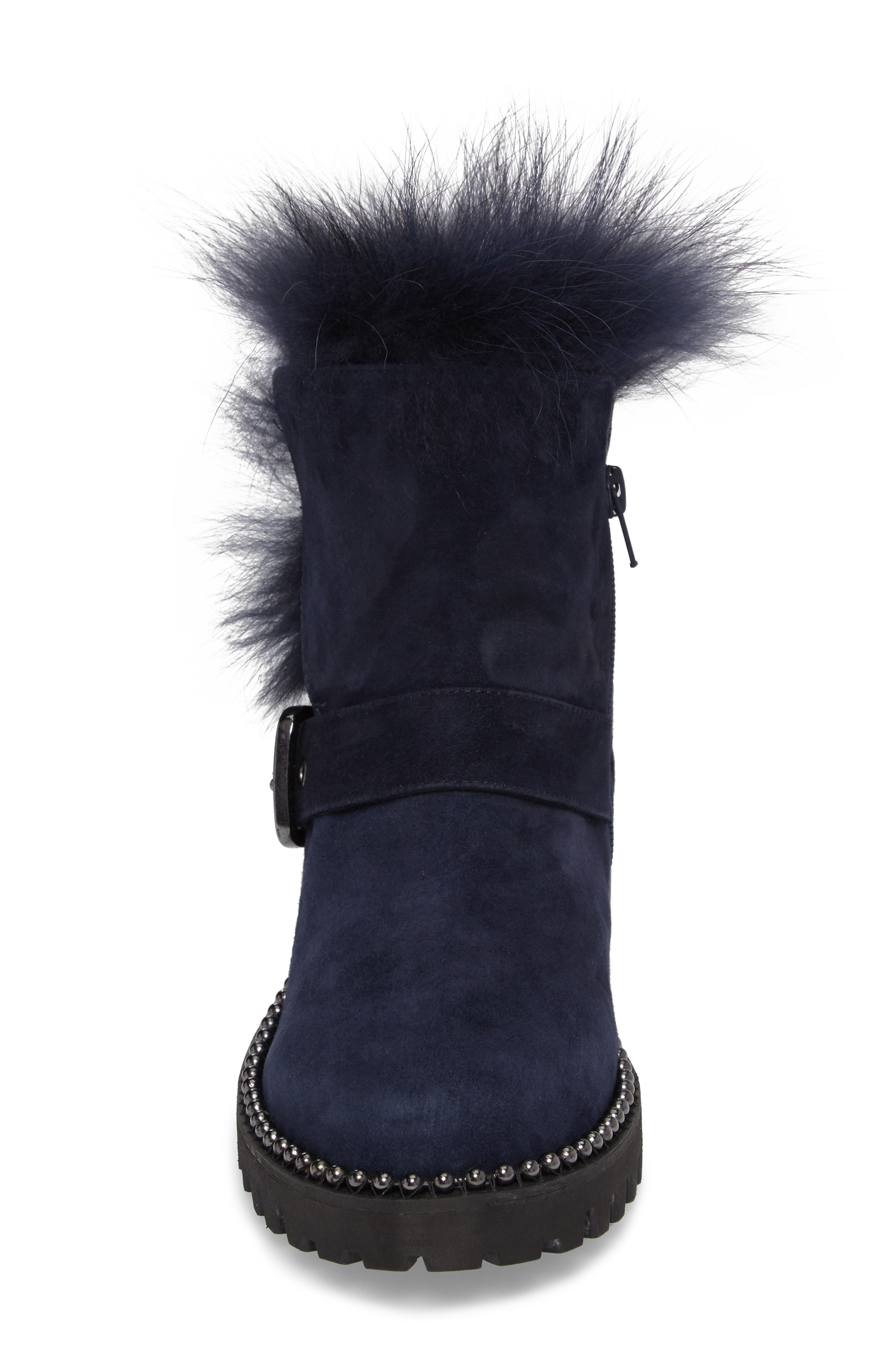 Theresa Boot with Genuine Fox Fur Trim,                             Alternate thumbnail 8, color,