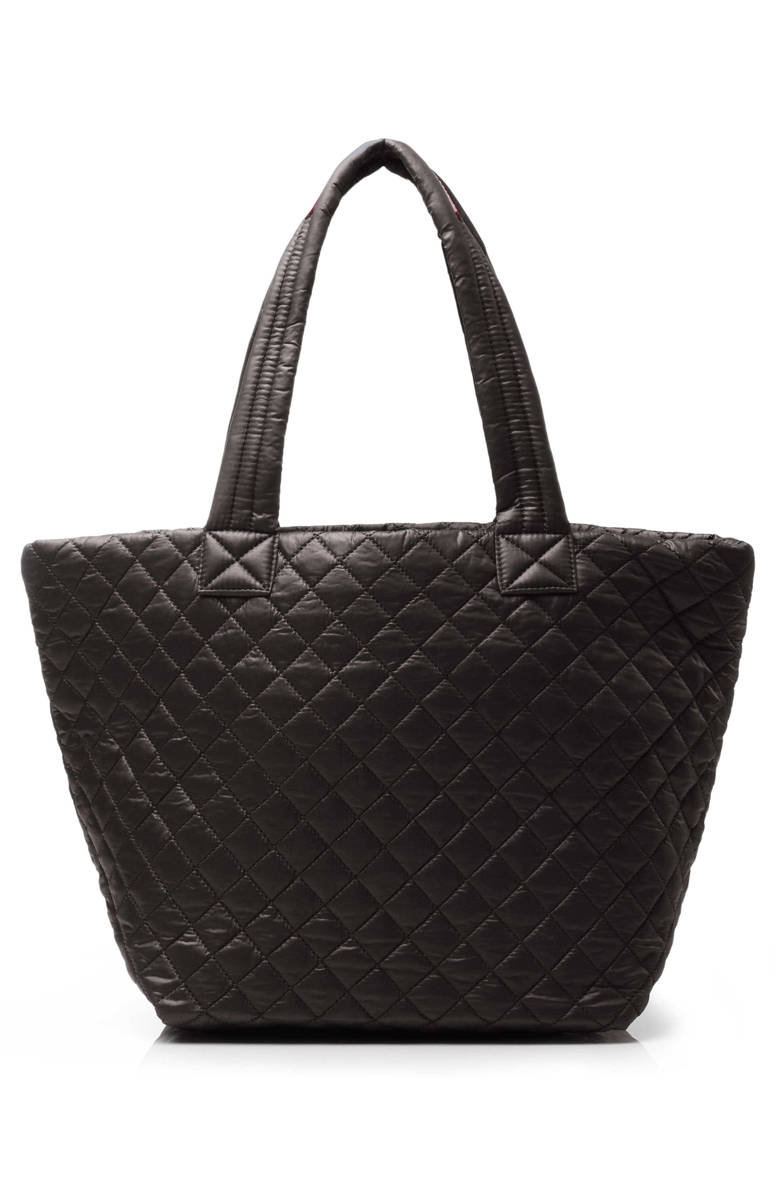 Medium Metro Tote,                             Alternate thumbnail 4, color,                             BLACK