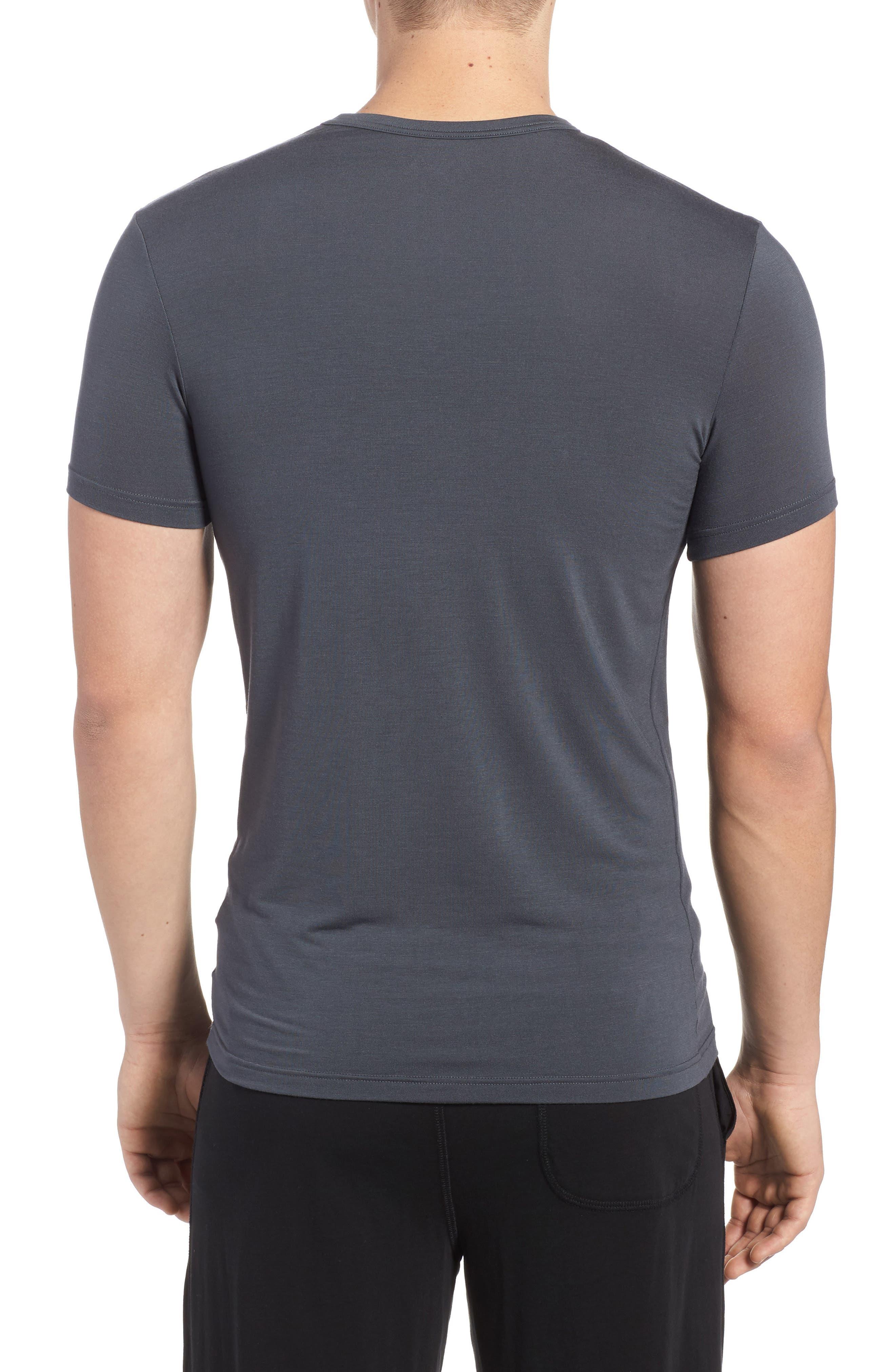 'U5551' Modal Blend Crewneck T-Shirt,                             Alternate thumbnail 3, color,                             MINK