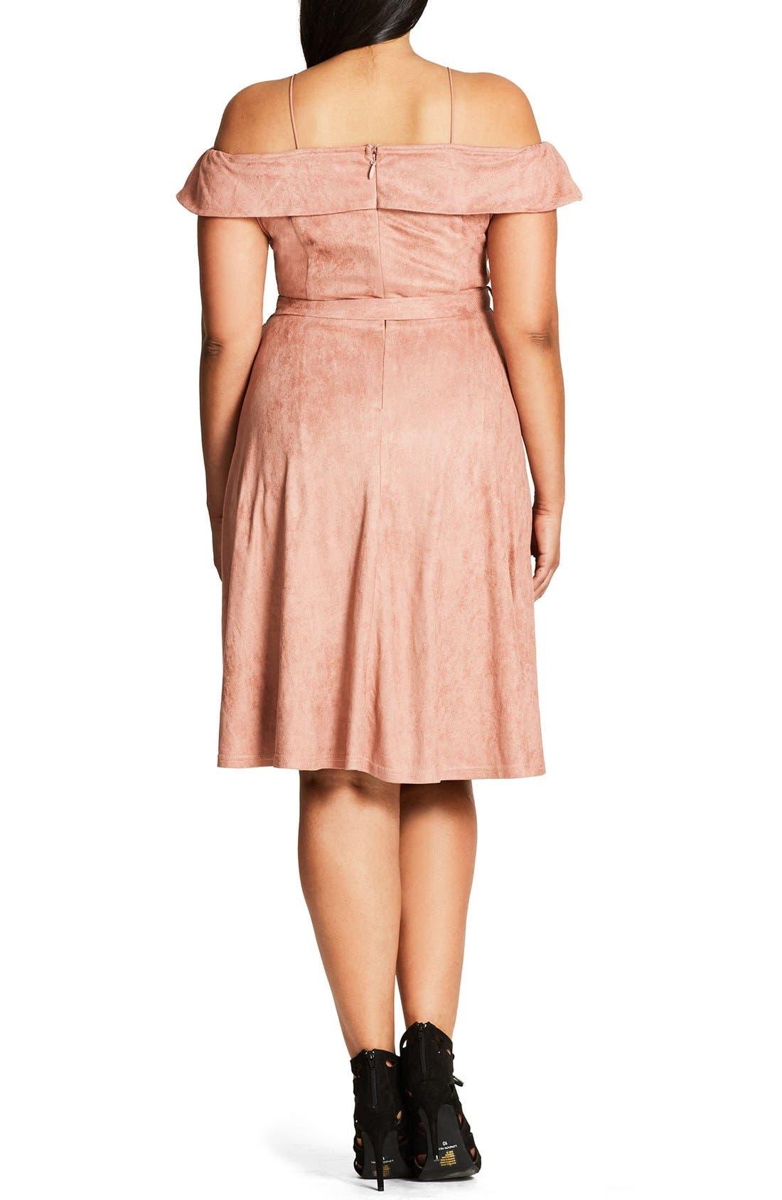 Ooh La La Faux Suede Dress,                             Alternate thumbnail 12, color,