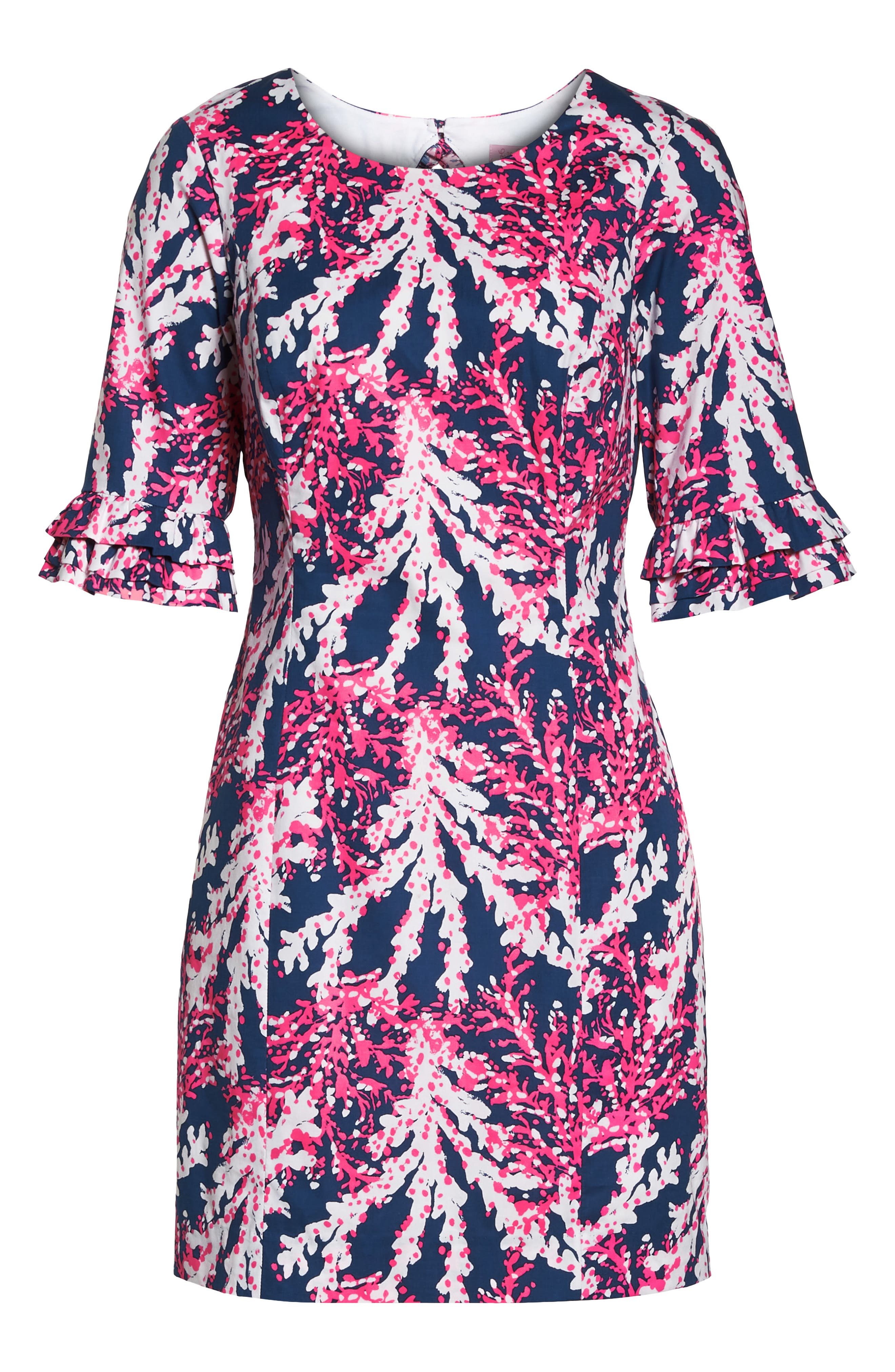 LILLY PULITZER<SUP>®</SUP>,                             Fiesta Stretch Sheath Dress,                             Alternate thumbnail 7, color,                             475