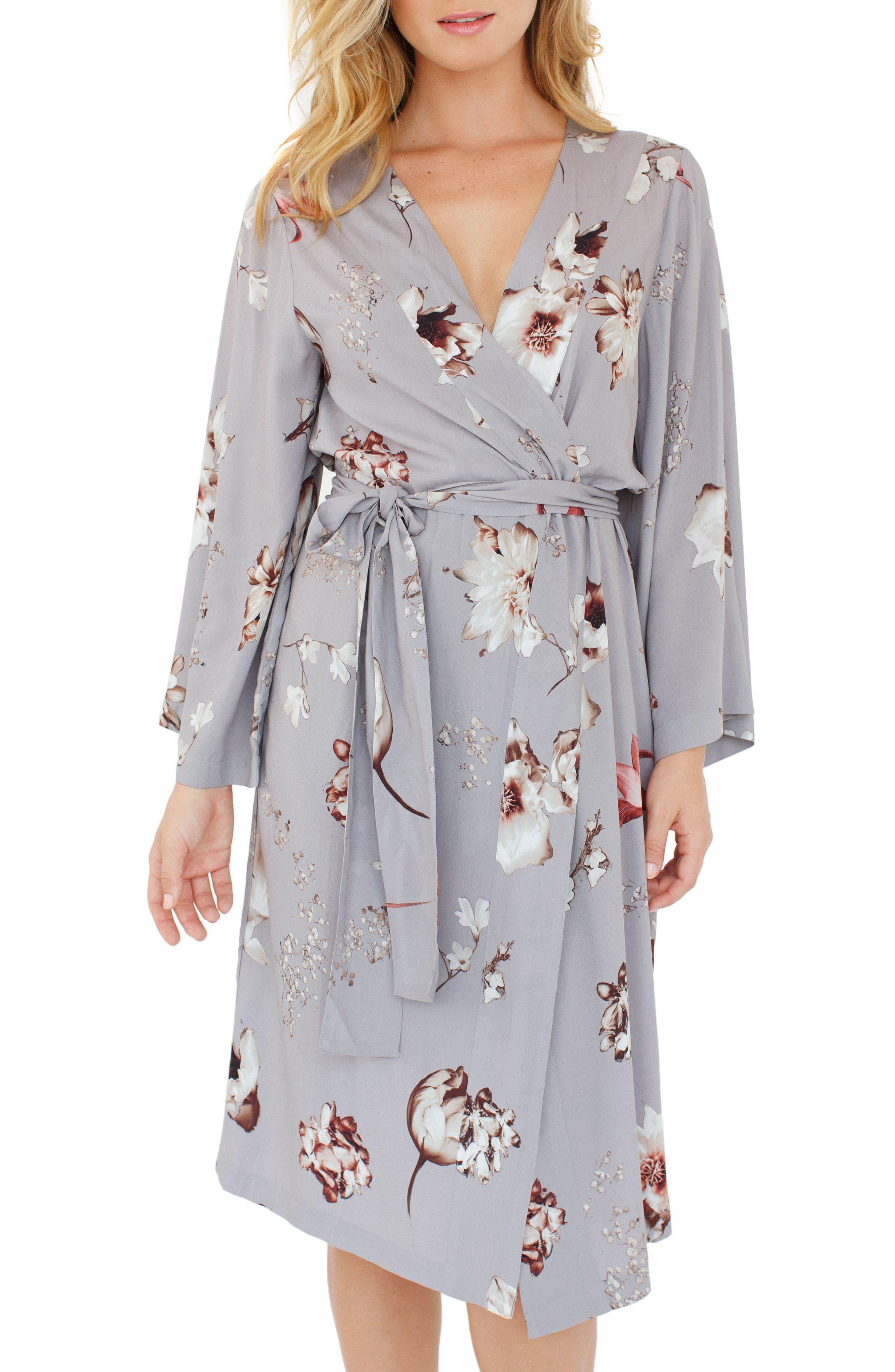 Floral Print Kimono,                             Main thumbnail 1, color,
