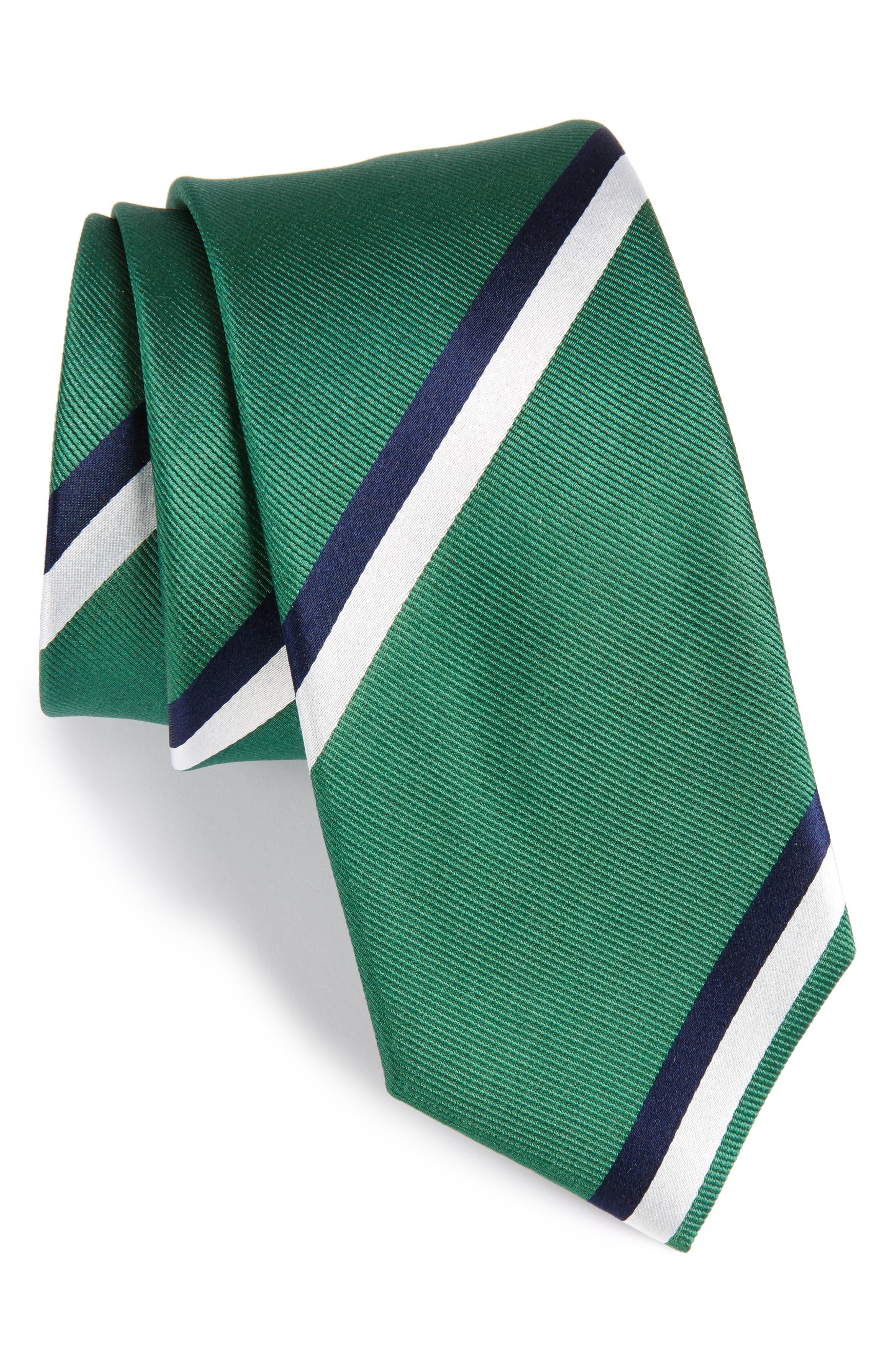 Ad Stripe Silk Tie,                         Main,                         color, 300