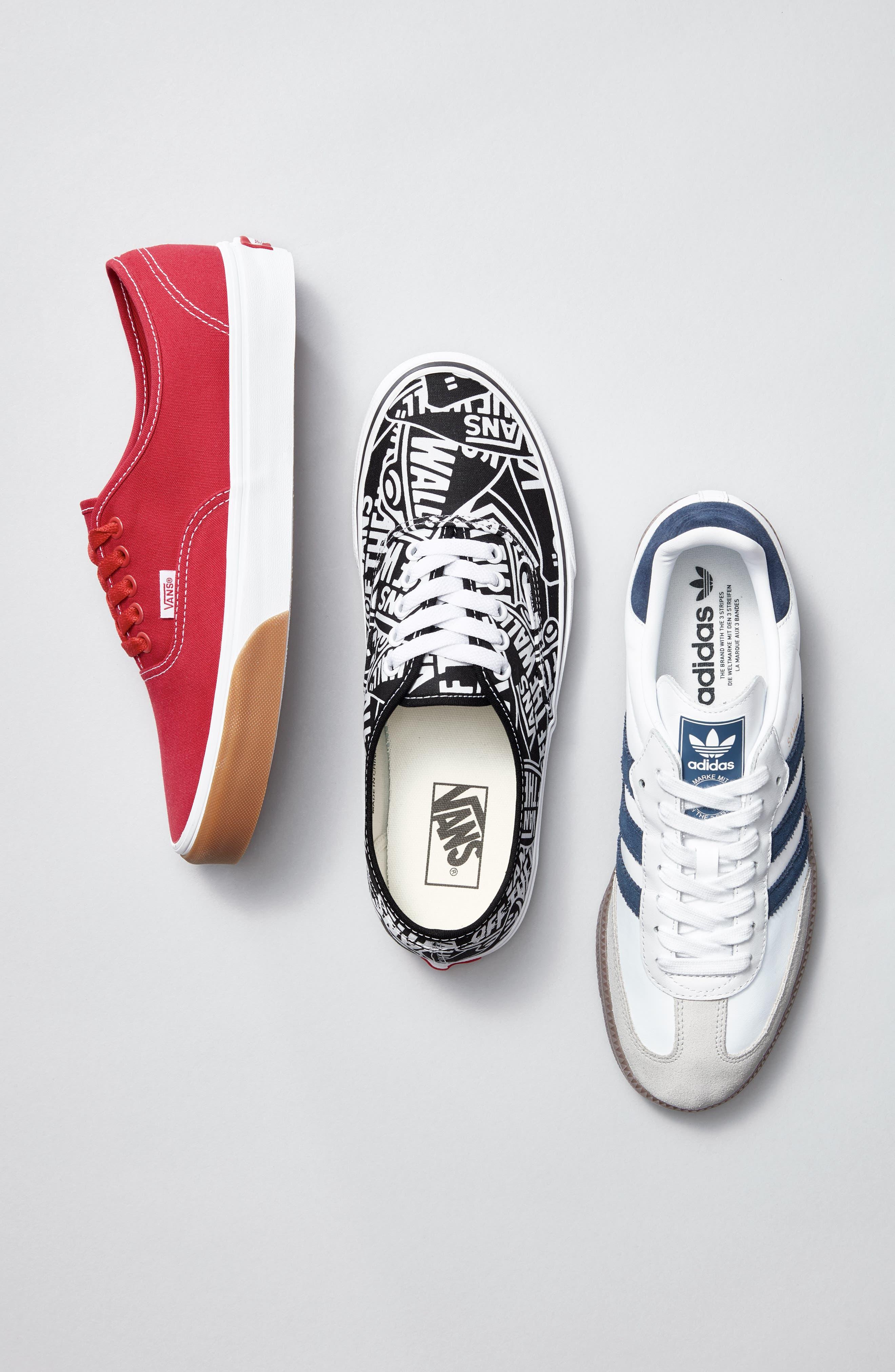 Authentic Sneaker,                             Alternate thumbnail 7, color,                             BLACK/ WHITE