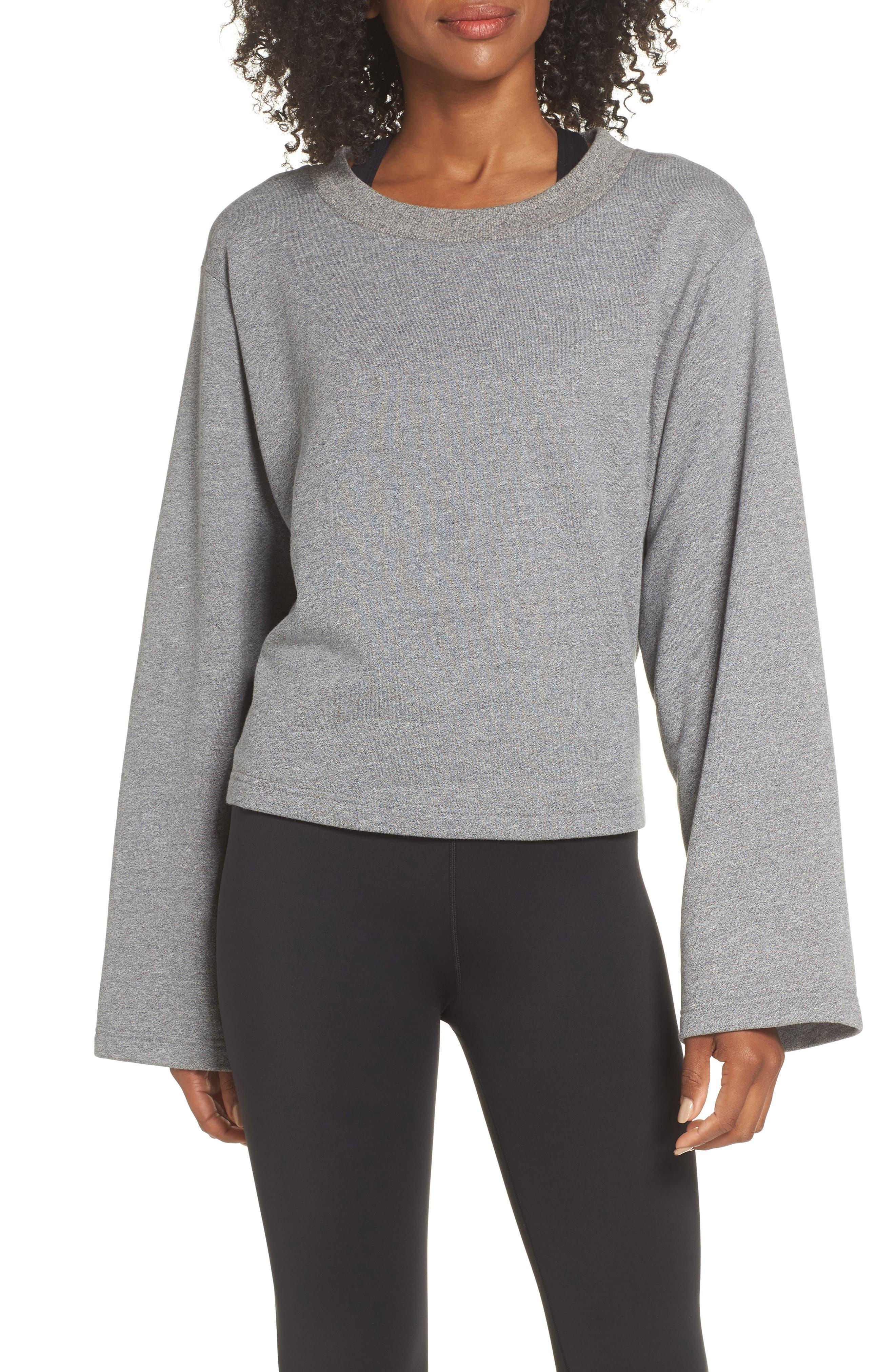 Weymouth Sweatshirt,                             Main thumbnail 1, color,                             DARK GREY