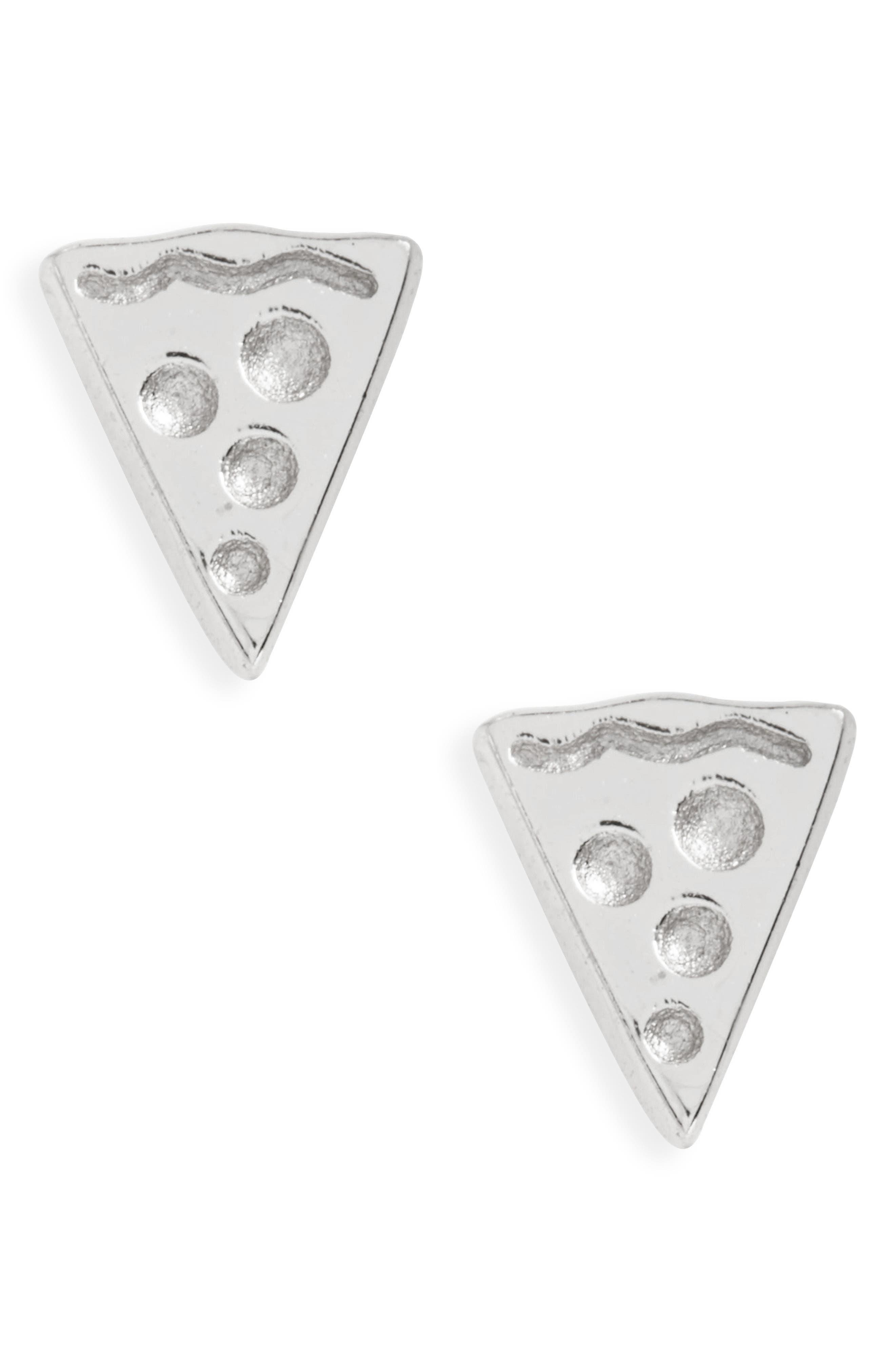 Pizza Stud Earrings,                         Main,                         color, 040