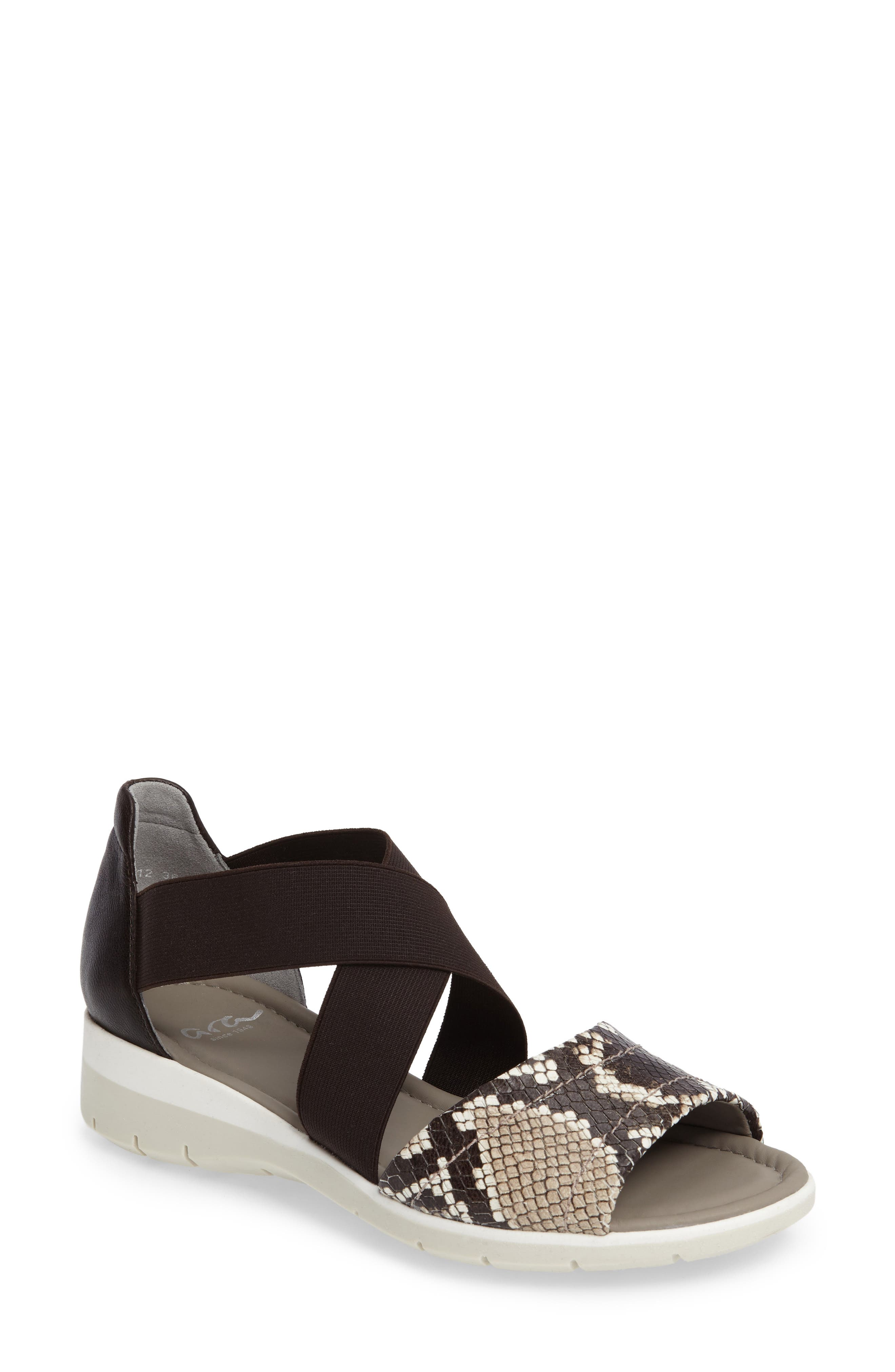 Ara Larissa Cross Strap Wedge Sandal