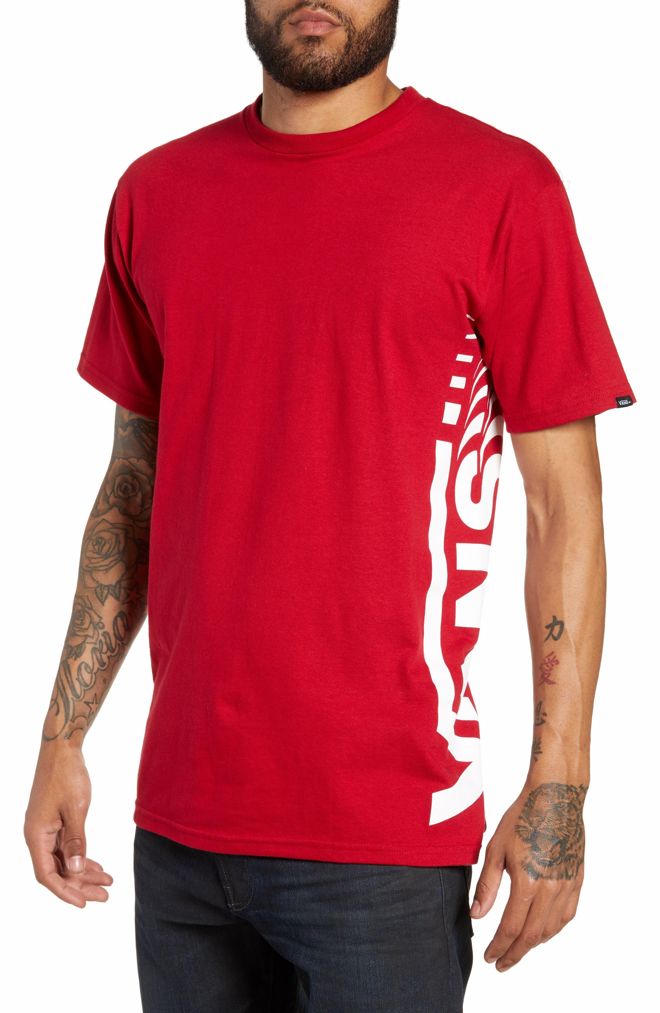 Distorted Short Sleeve T-Shirt,                         Main,                         color, CARDINAL