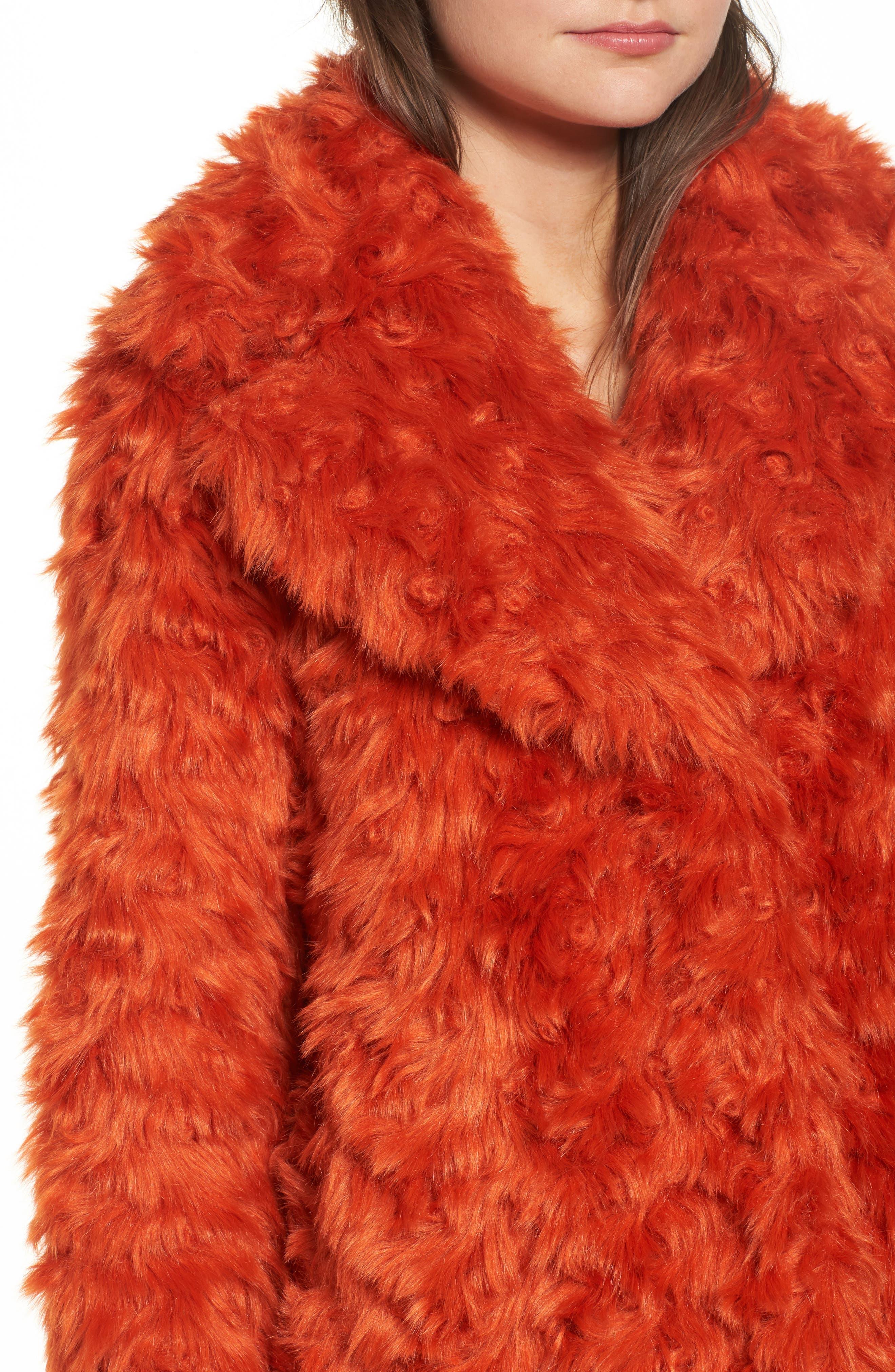 Curly Faux Fur Jacket,                             Alternate thumbnail 4, color,                             800