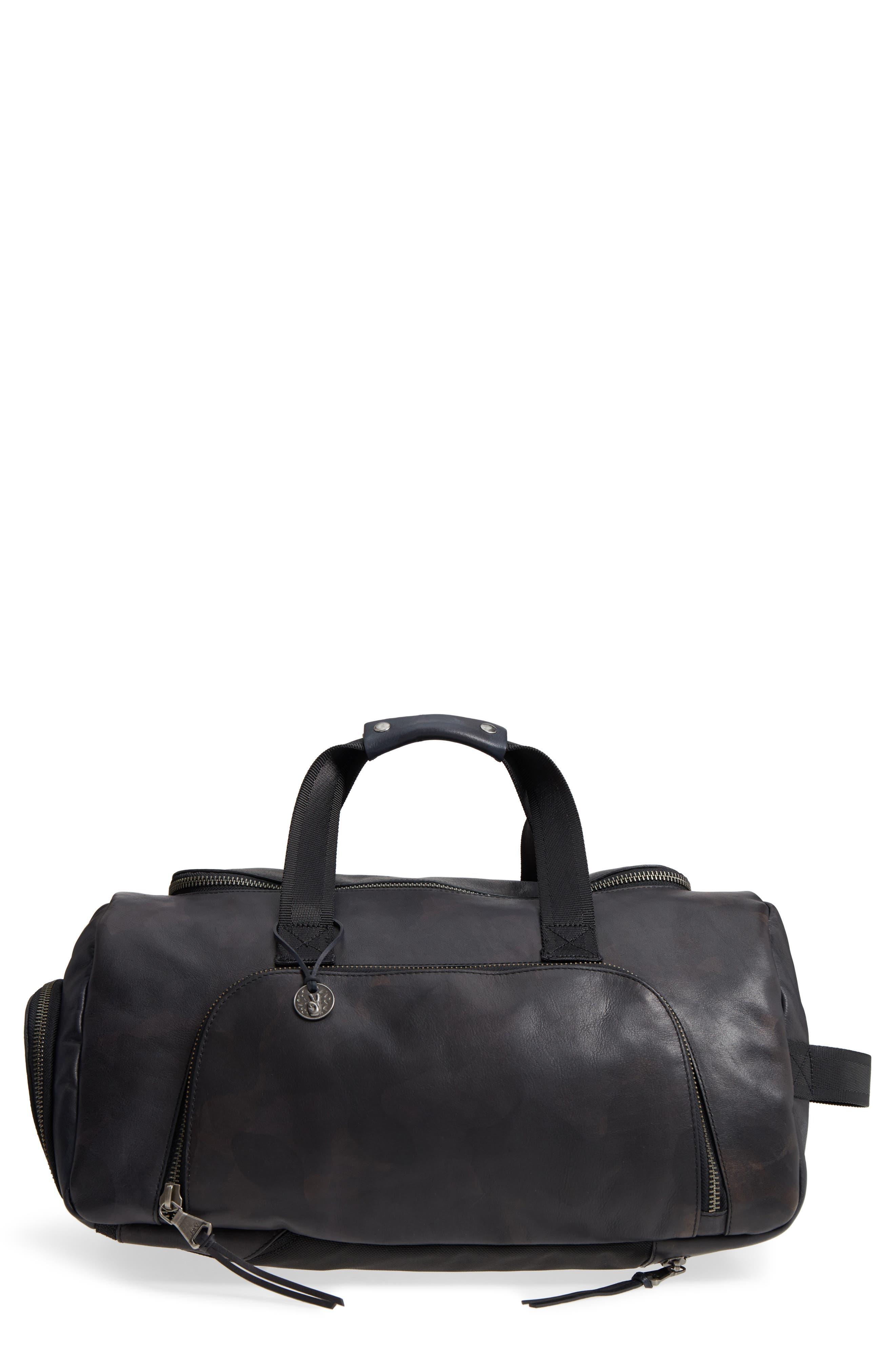Brooklyn Suede Convertible Duffel Bag,                             Main thumbnail 2, color,