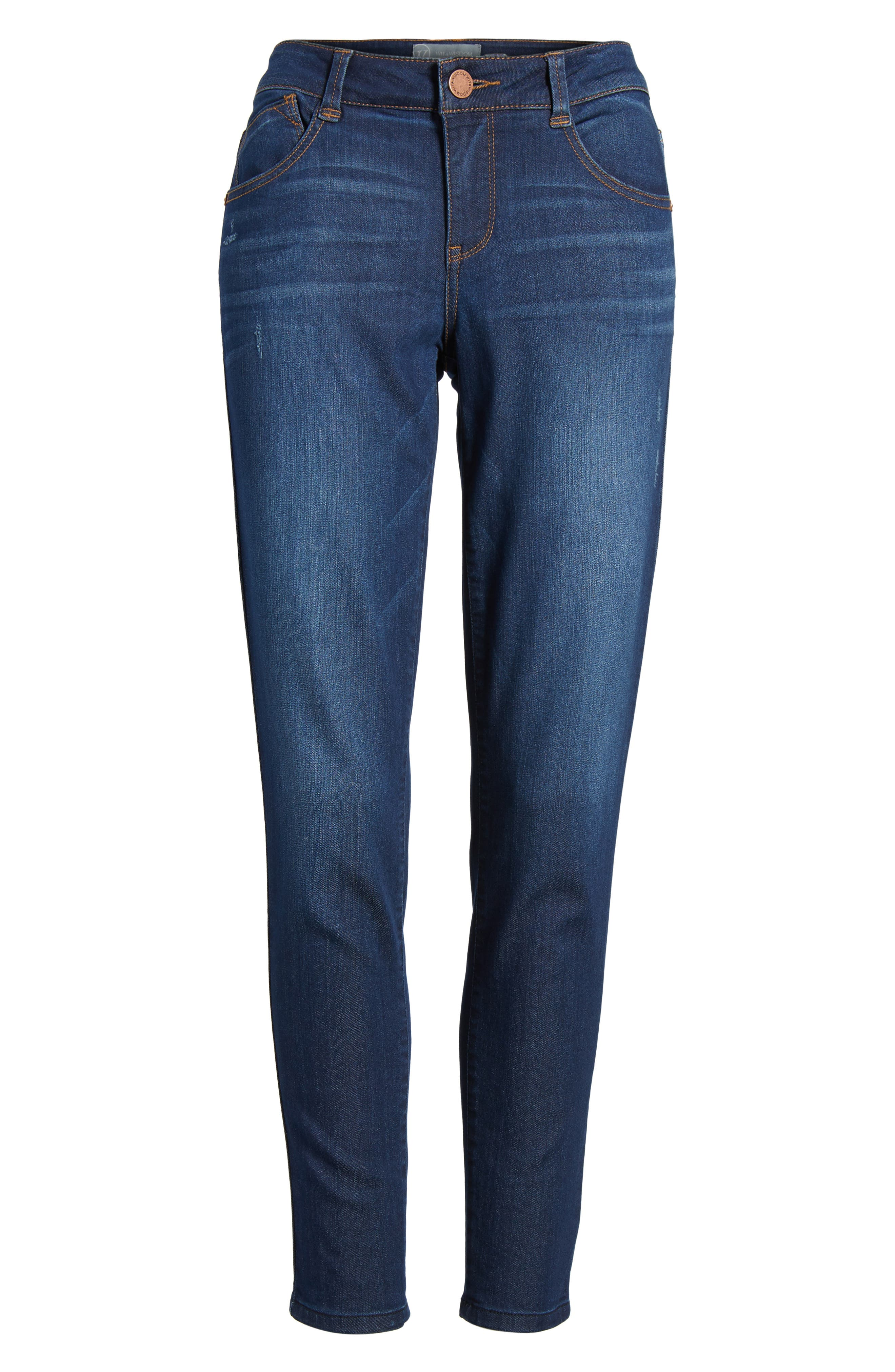 Skinny Ankle Jeans,                             Alternate thumbnail 6, color,