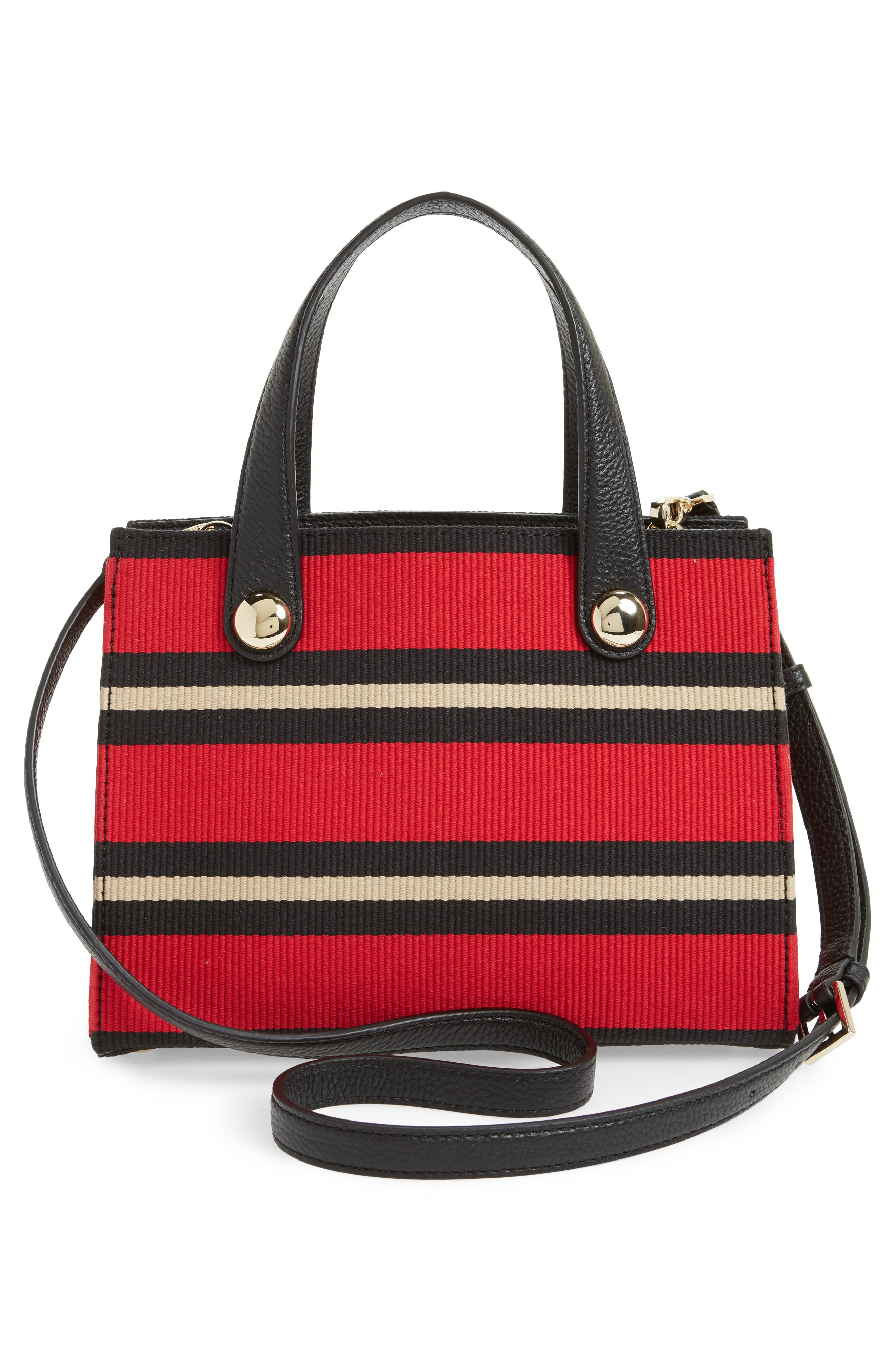 stewart street - little joy stripe grosgrain satchel,                             Alternate thumbnail 3, color,                             600