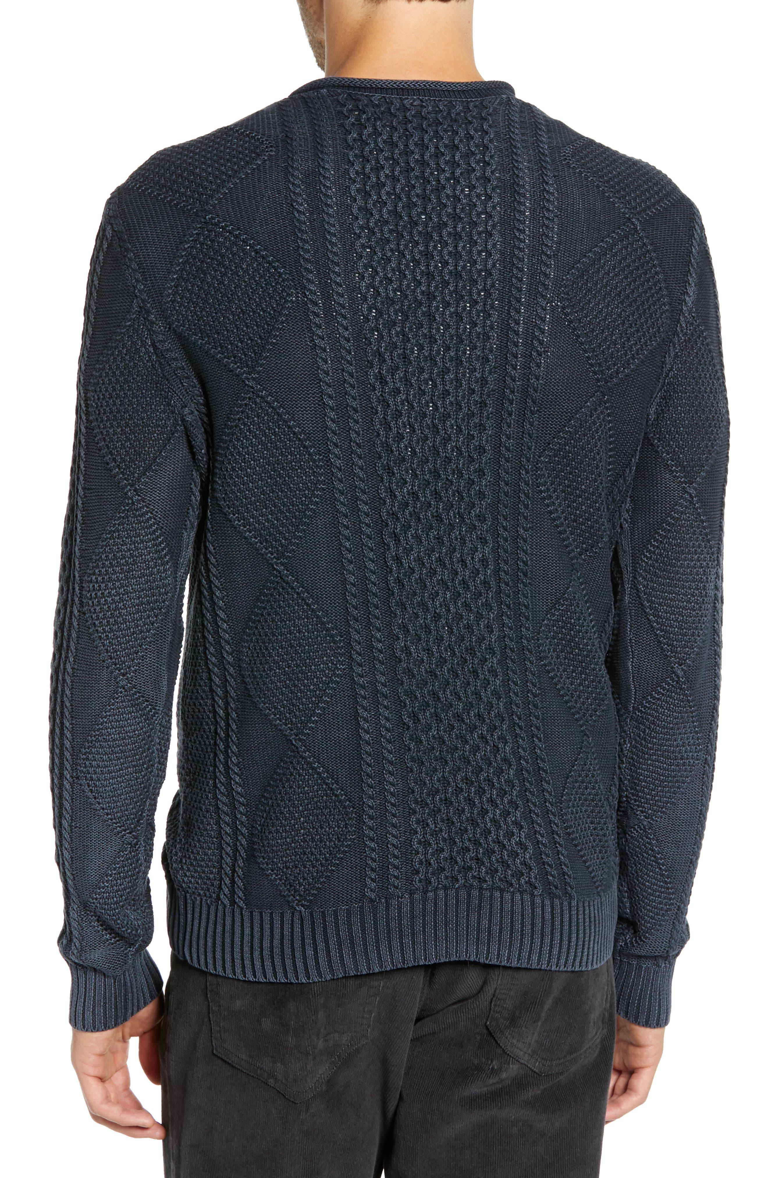 Fisherman Sweater,                             Alternate thumbnail 2, color,                             NAVY IRIS