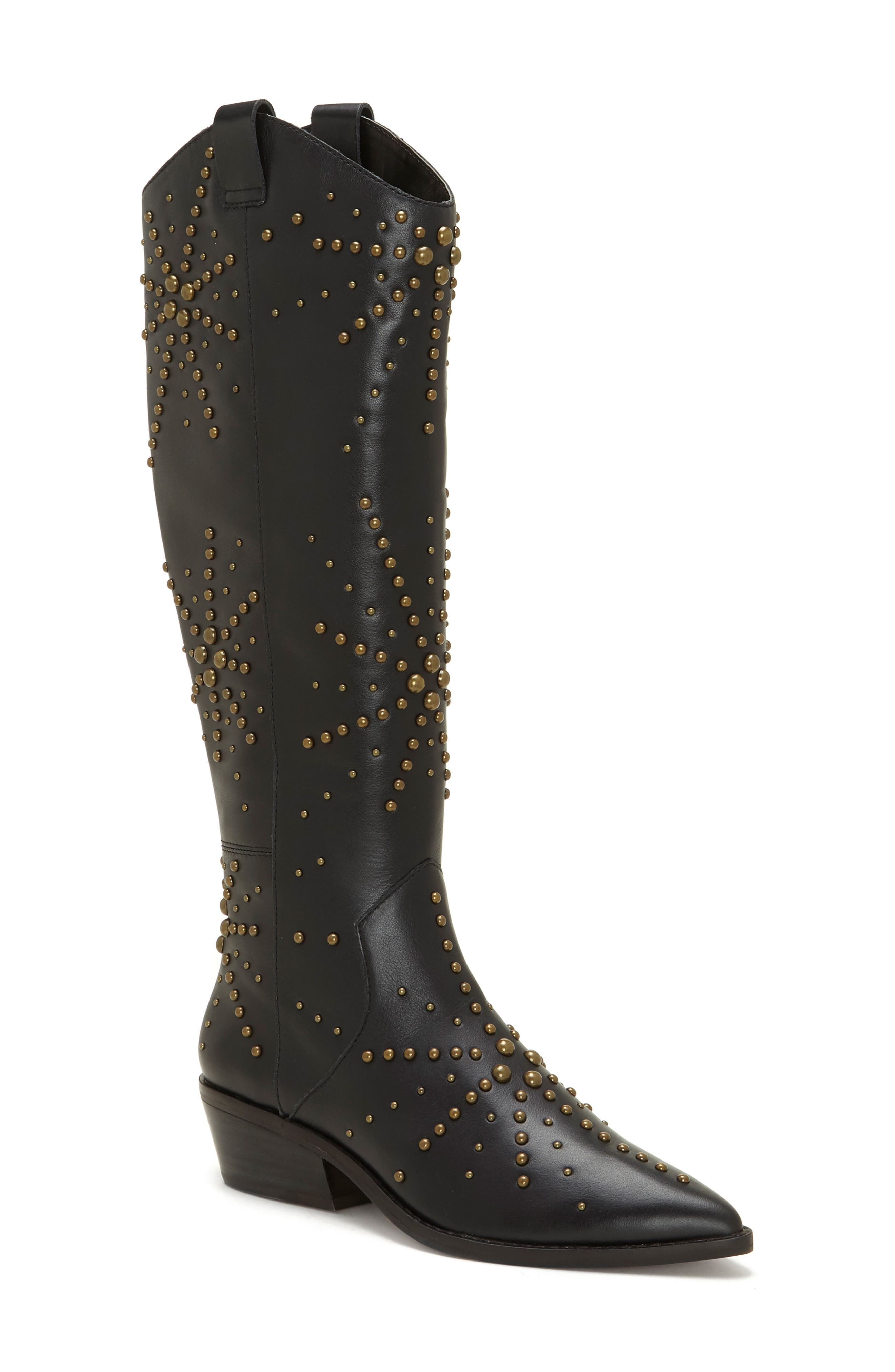 1.state Sabylla Studded Western Boot- Black